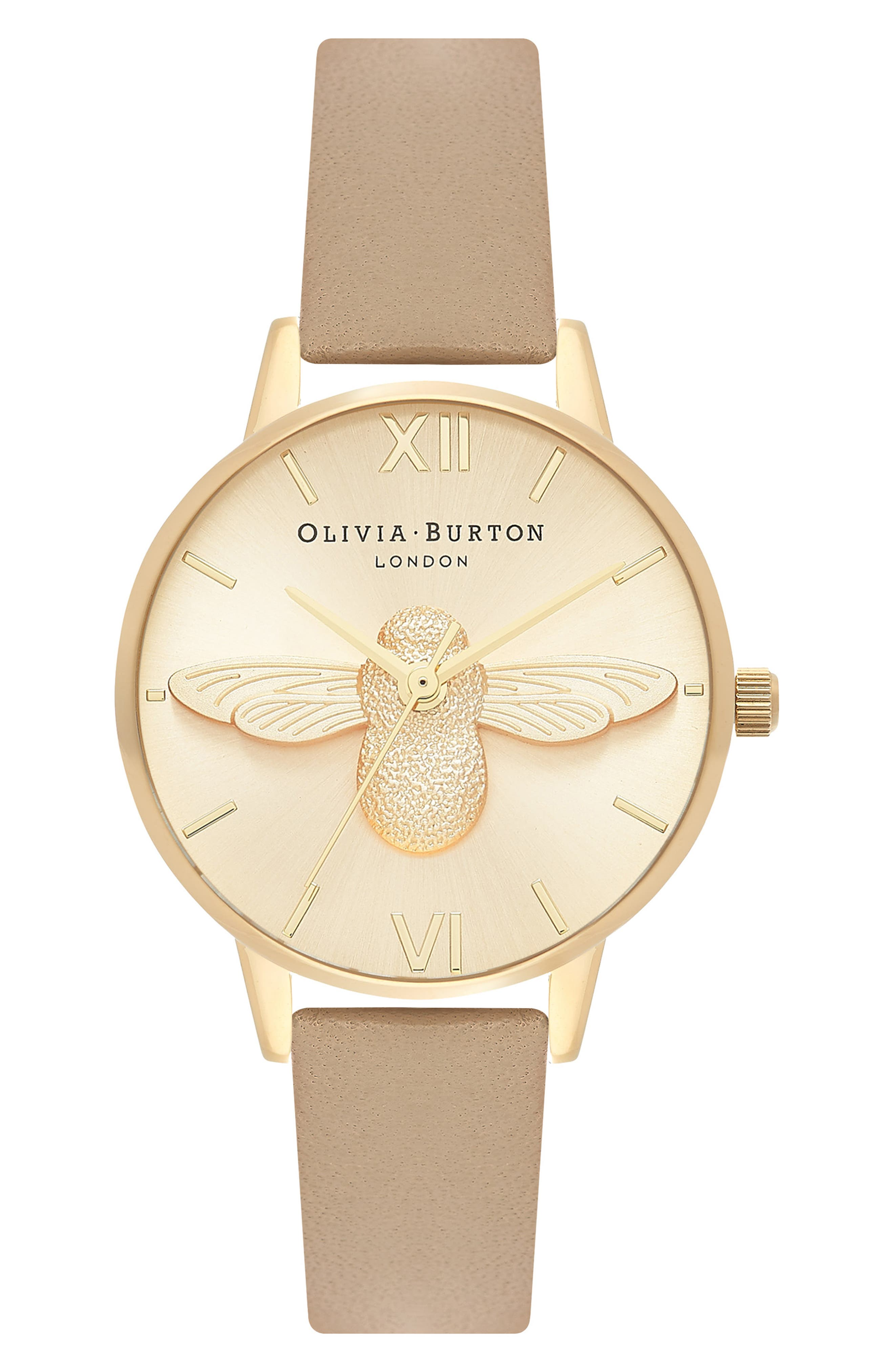 BEE LEATHER STRAP WATCH, 30MM