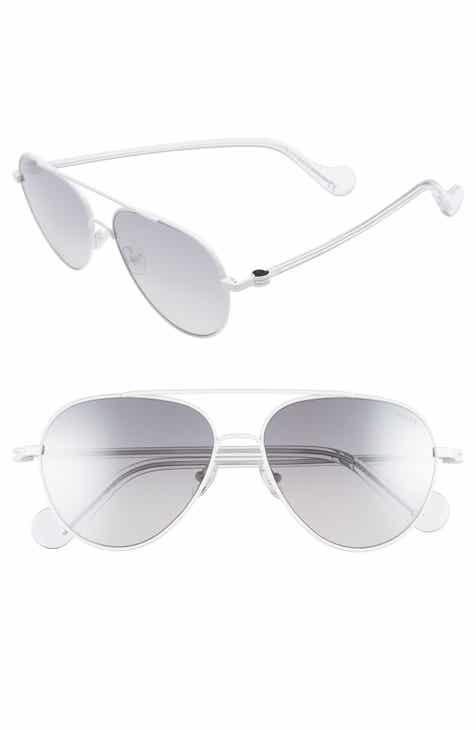 fe55288f0189 Moncler 57mm Aviator Sunglasses