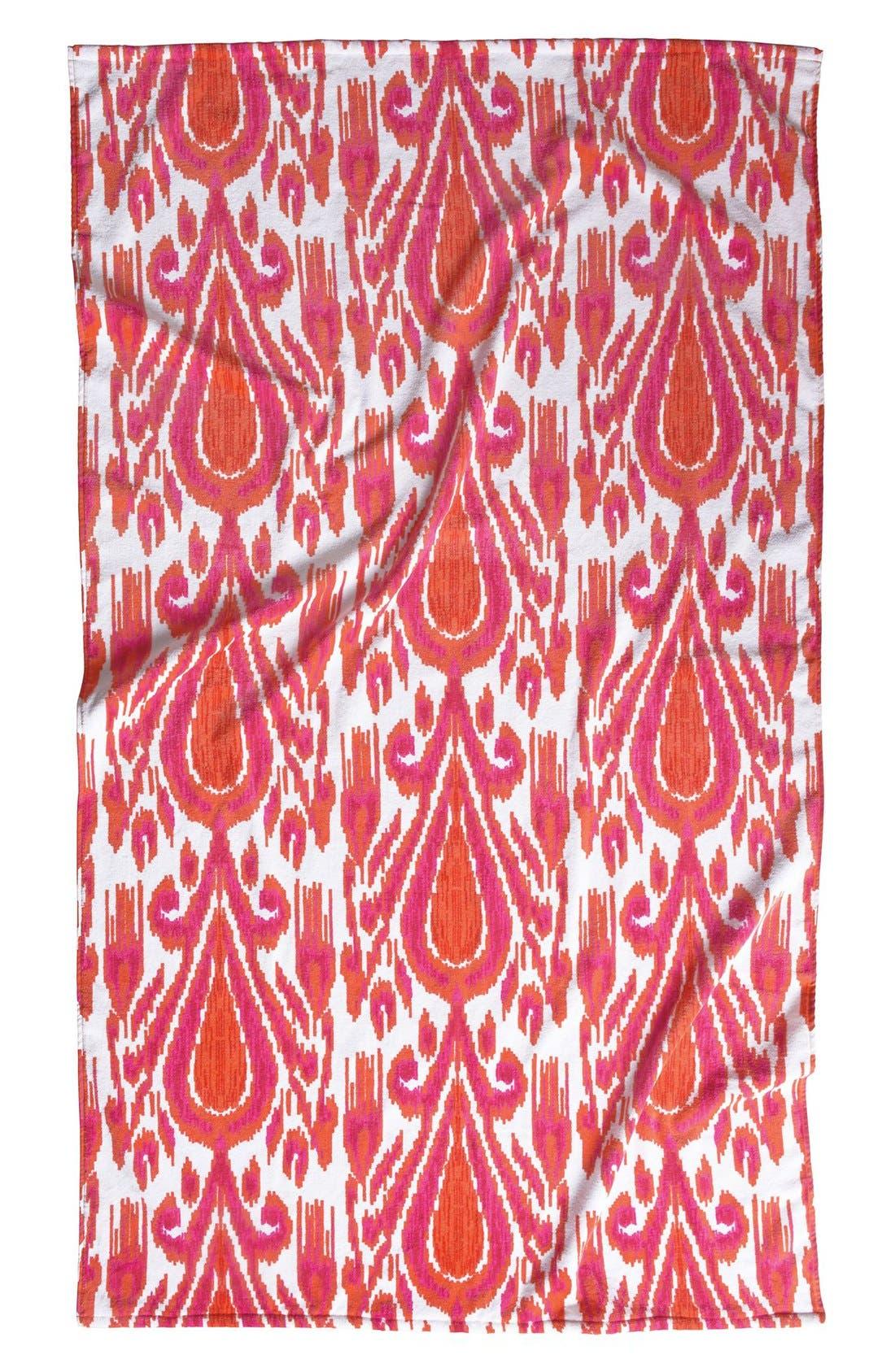 'Fergana' Beach Towel,                         Main,                         color, Coral