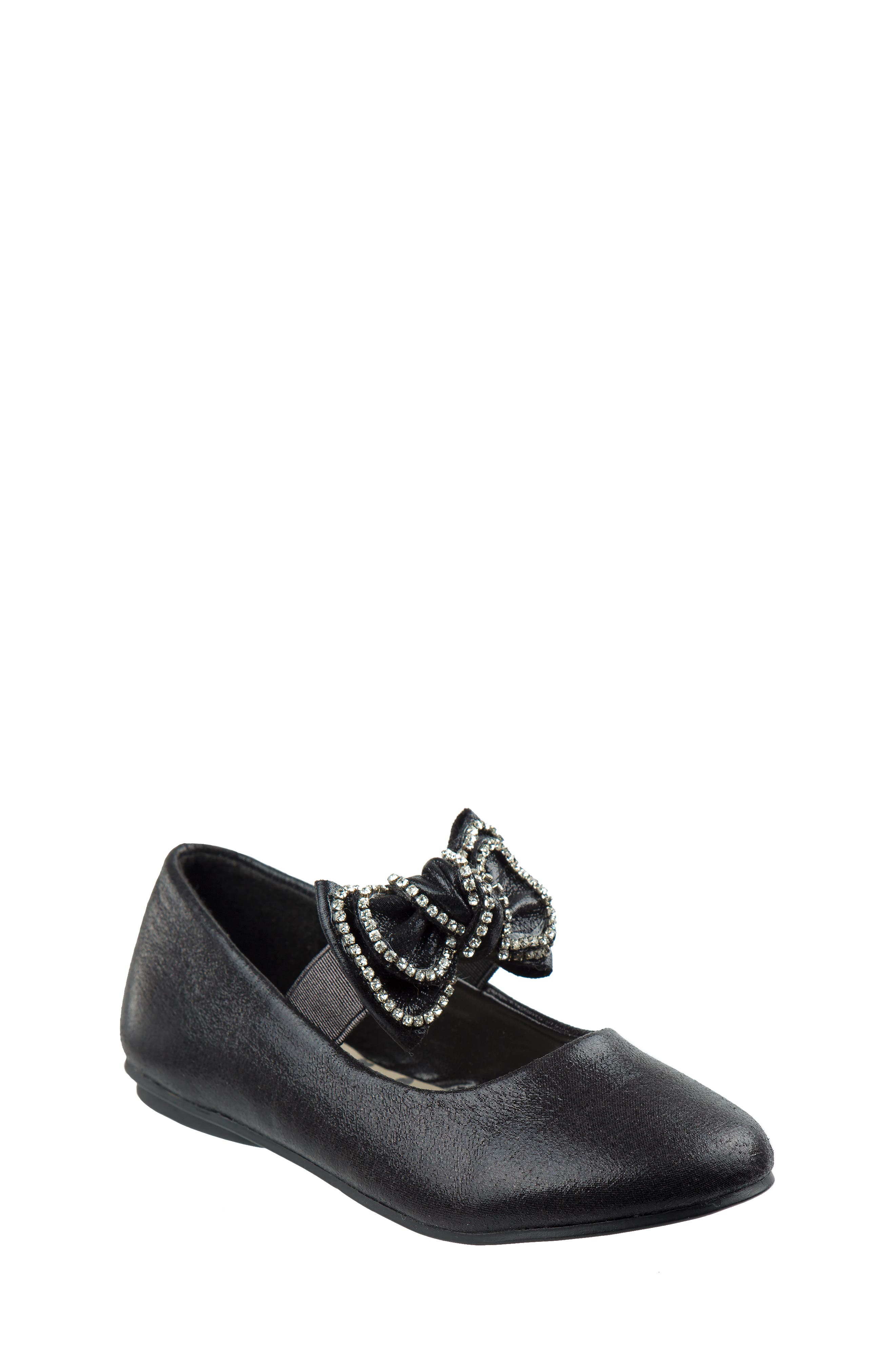 Bow Ballerina Flat,                             Main thumbnail 1, color,                             Black