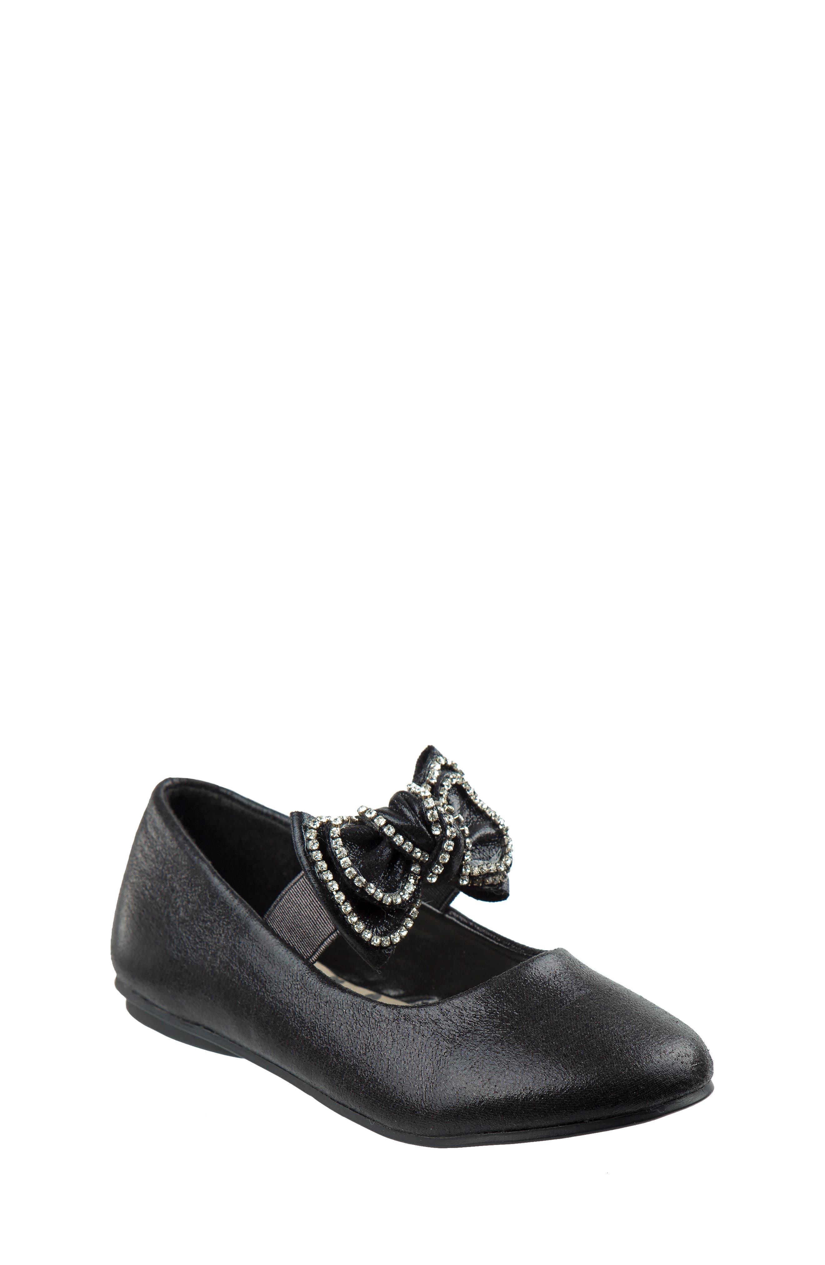 Bow Ballerina Flat,                         Main,                         color, Black