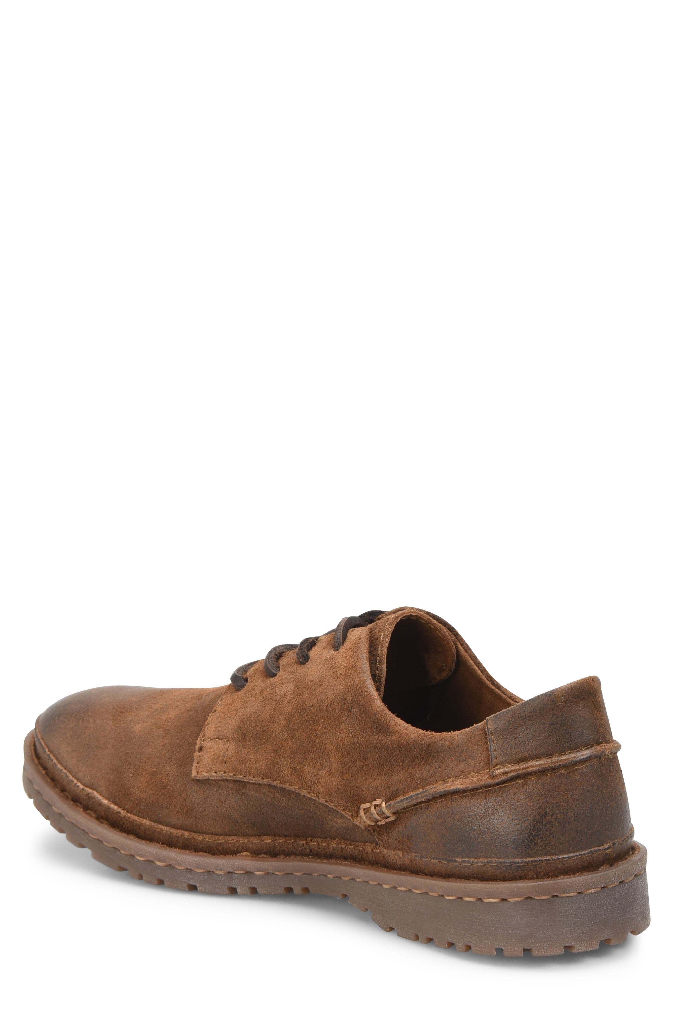 Gilles Plain Toe Derby,                             Alternate thumbnail 2, color,                             Brown/Brown Leather