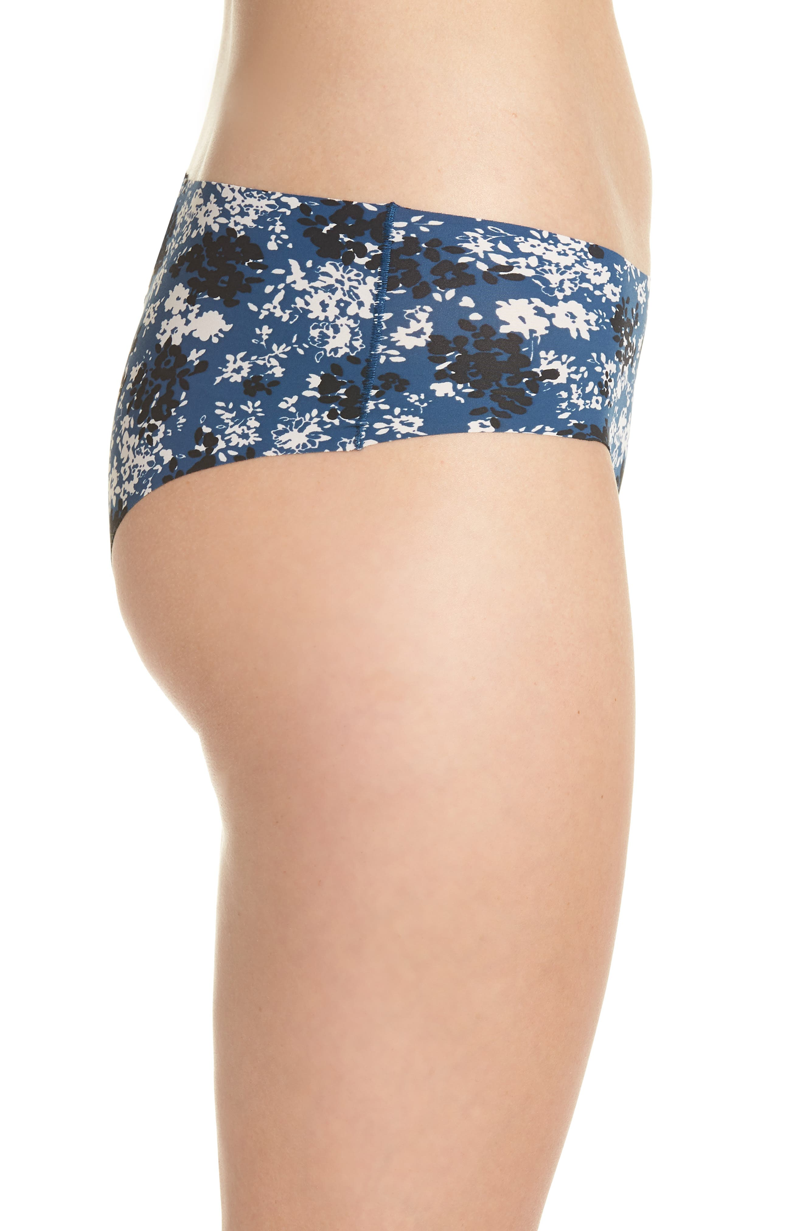 Invisibles Hipster Briefs,                             Alternate thumbnail 5, color,                             Simple Floral/ Lyria Blue
