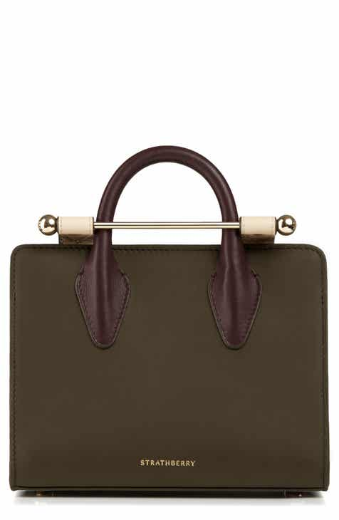 Strathberry Nano Tricolor Leather Satchel