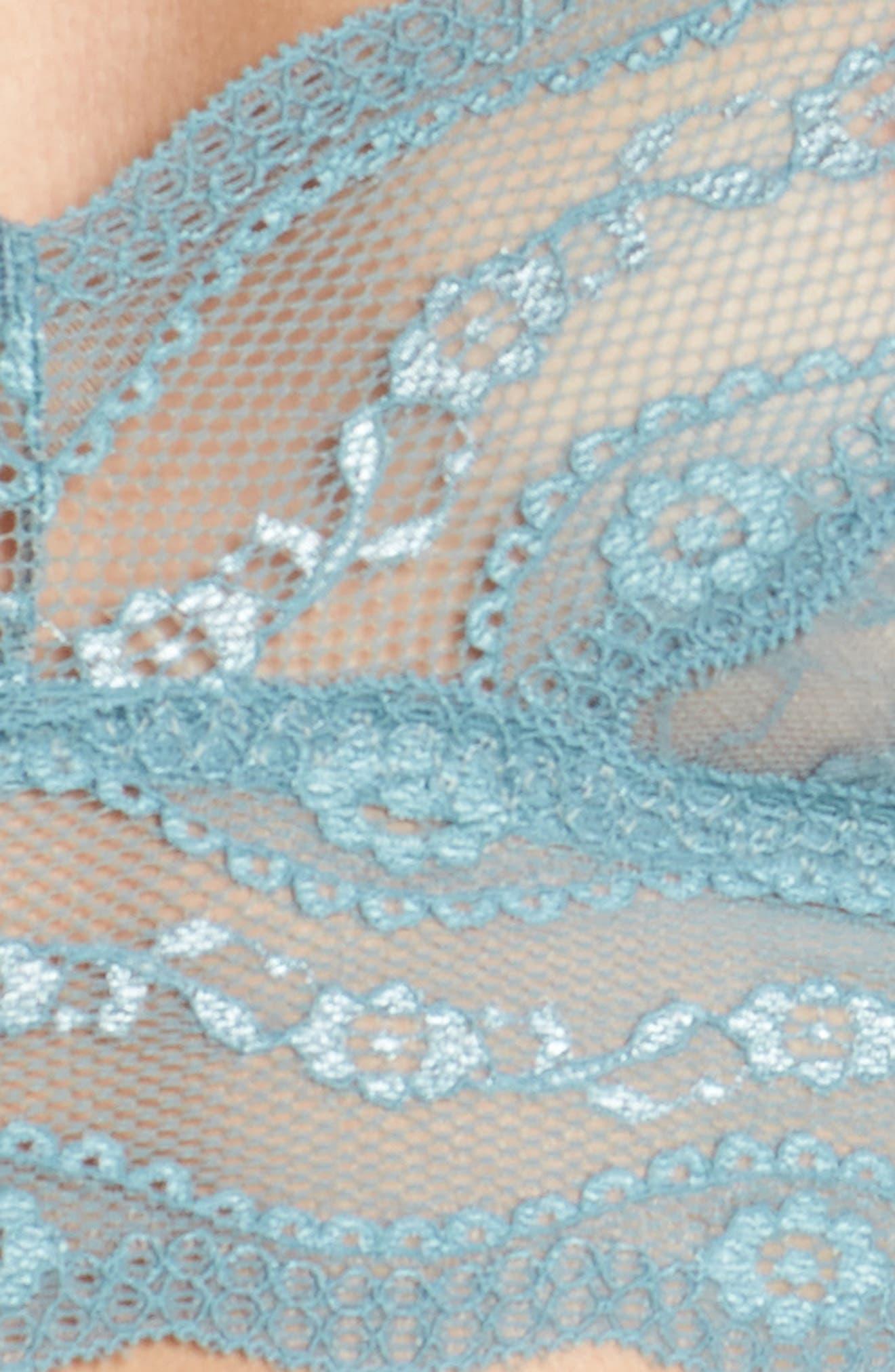 'Lace Kiss' Bralette,                             Alternate thumbnail 7, color,                             Blue Smoke