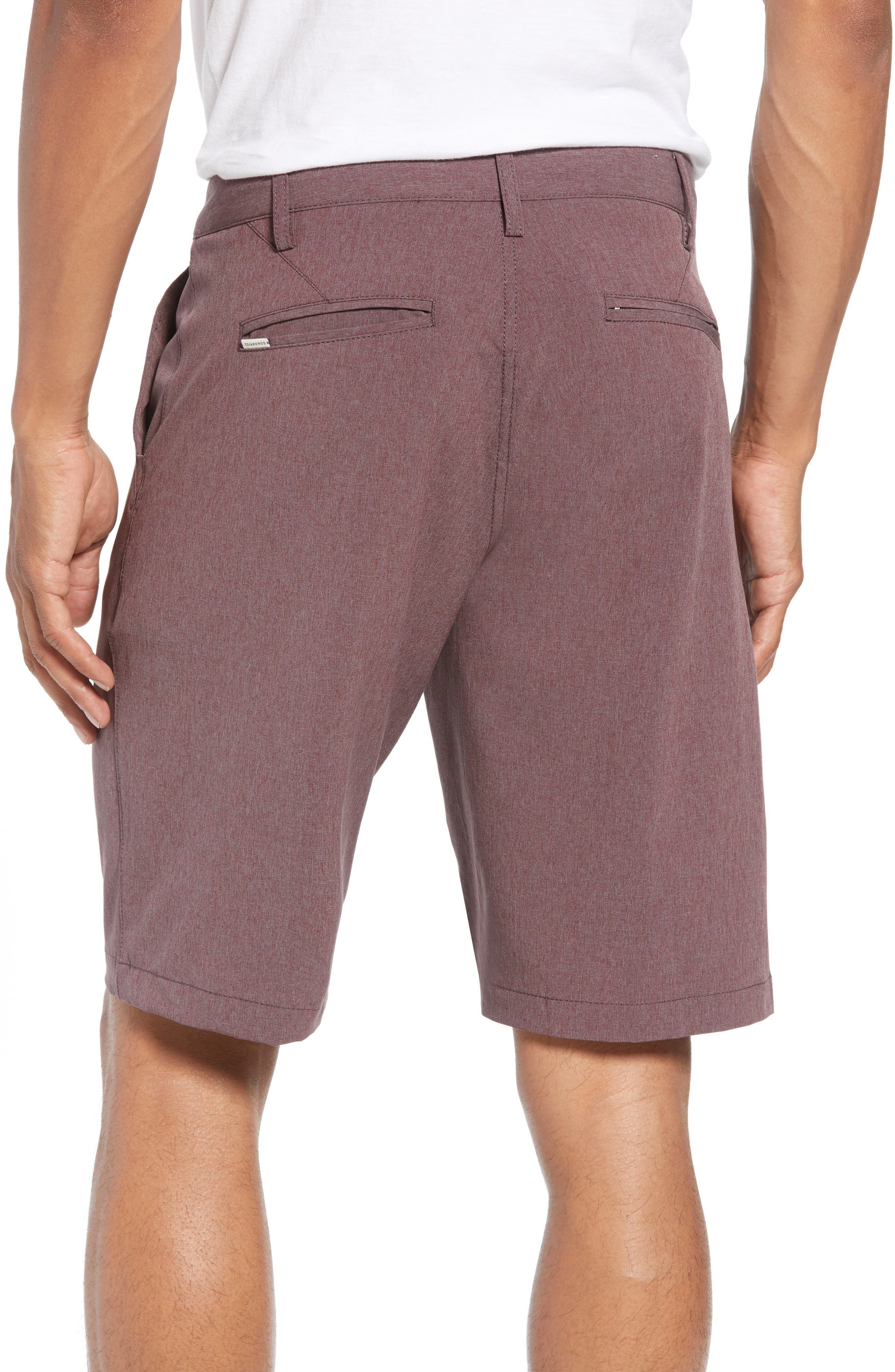 Adrenaline Stretch Shorts,                             Alternate thumbnail 4, color,                             Berry