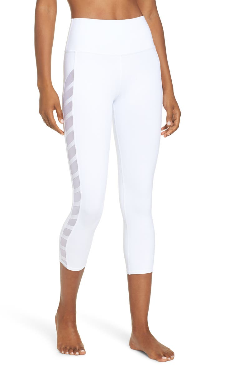 Chevron High Waist Capri Leggings