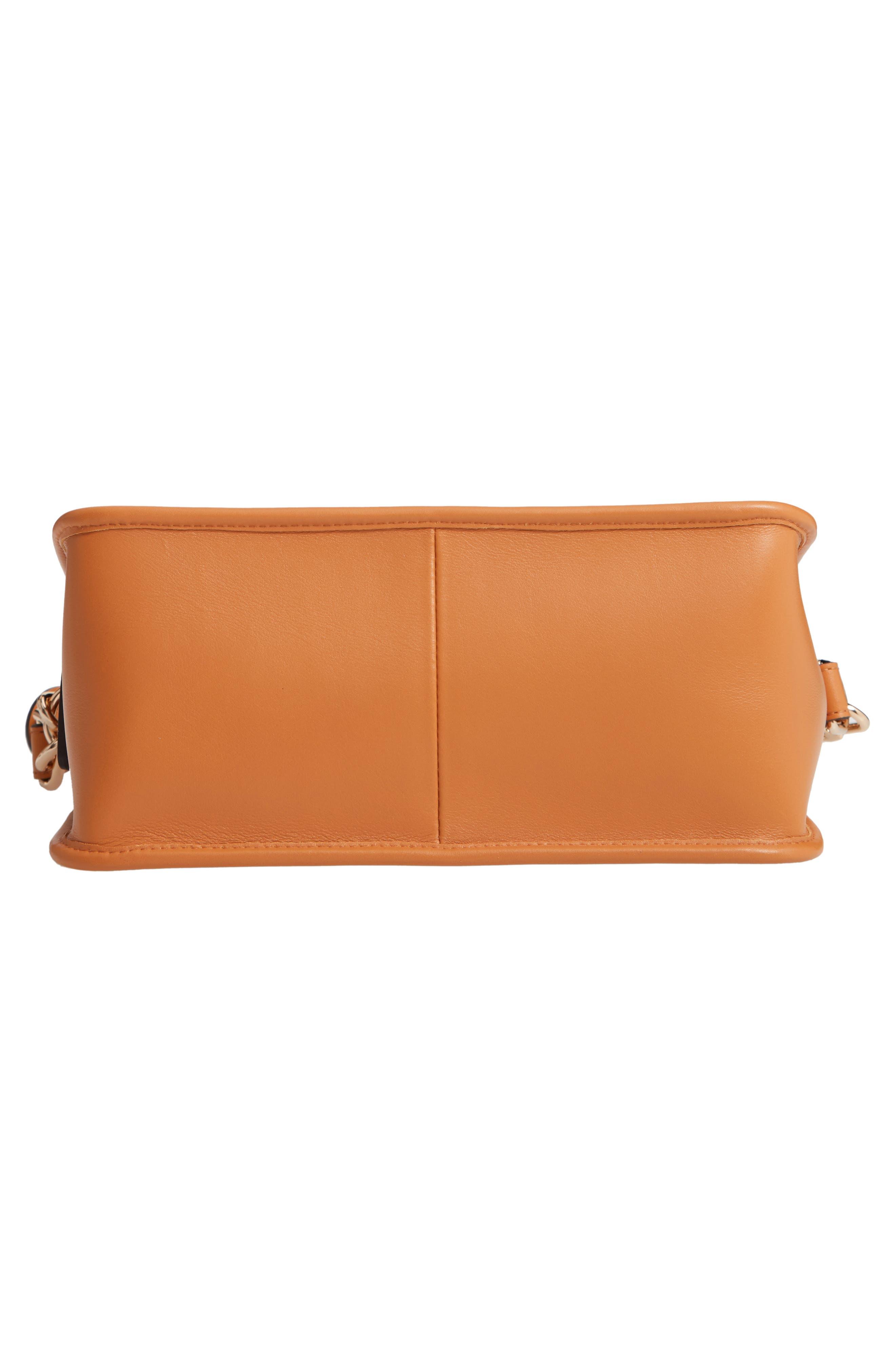 Mademoiselle Calfskin Leather Crossbody Bag,                             Alternate thumbnail 3, color,                             Honey