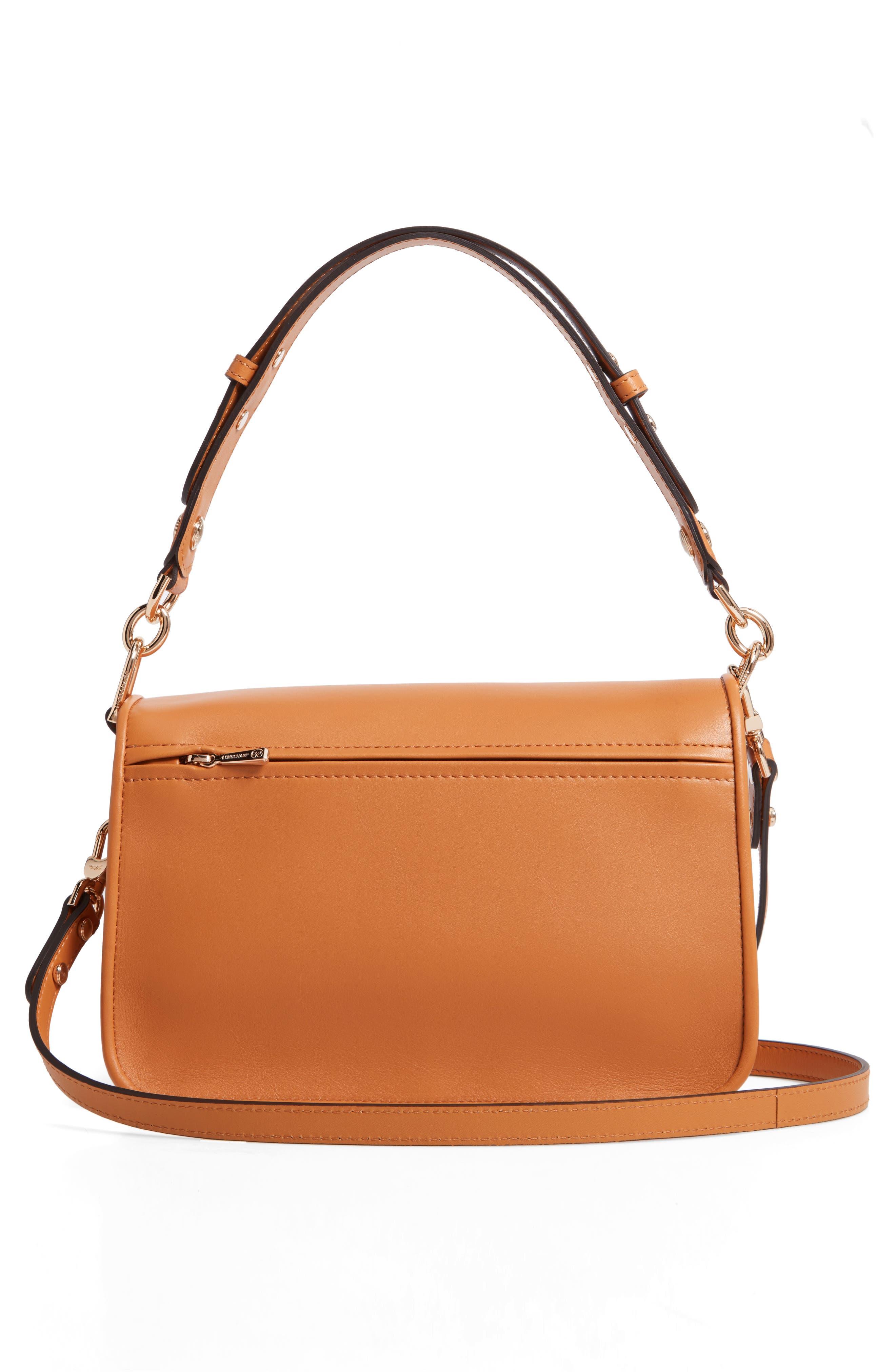 Mademoiselle Calfskin Leather Crossbody Bag,                             Alternate thumbnail 5, color,                             Honey