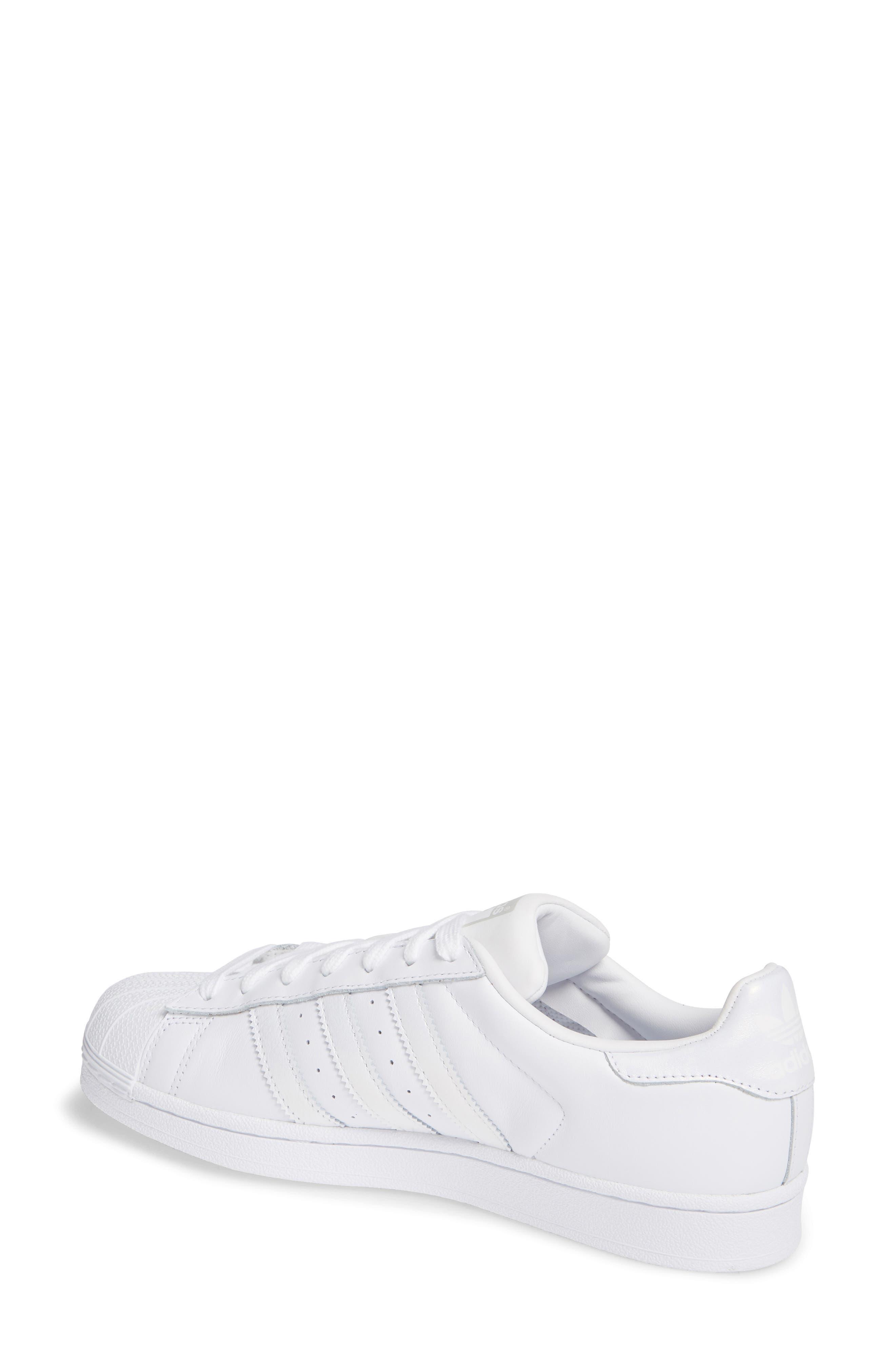 Superstar Sneaker,                             Alternate thumbnail 2, color,                             White/ White/ Grey One
