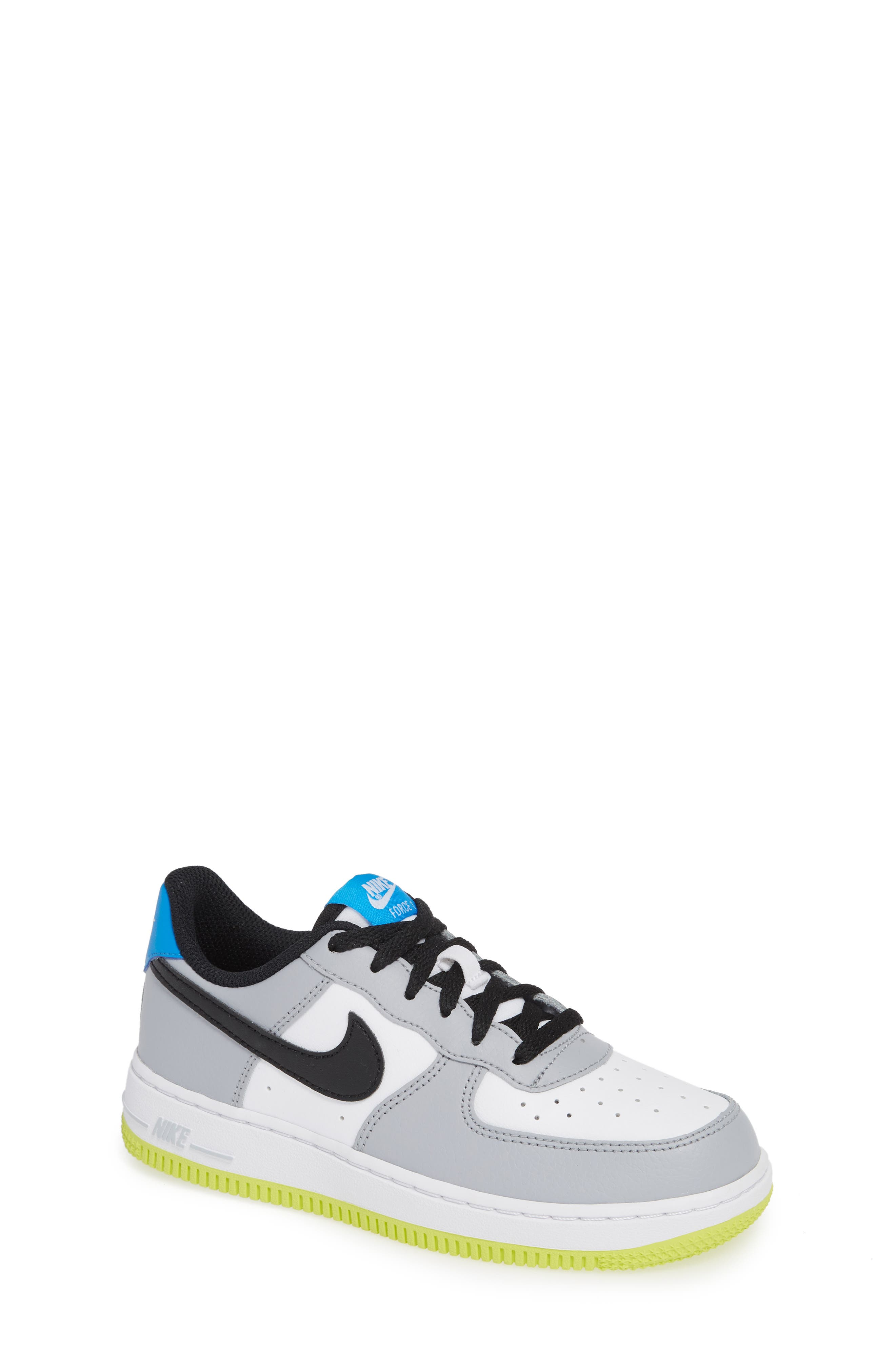 Air Force 1 Sneaker,                             Main thumbnail 1, color,                             Wolf Grey/ Black/ White/ Blue