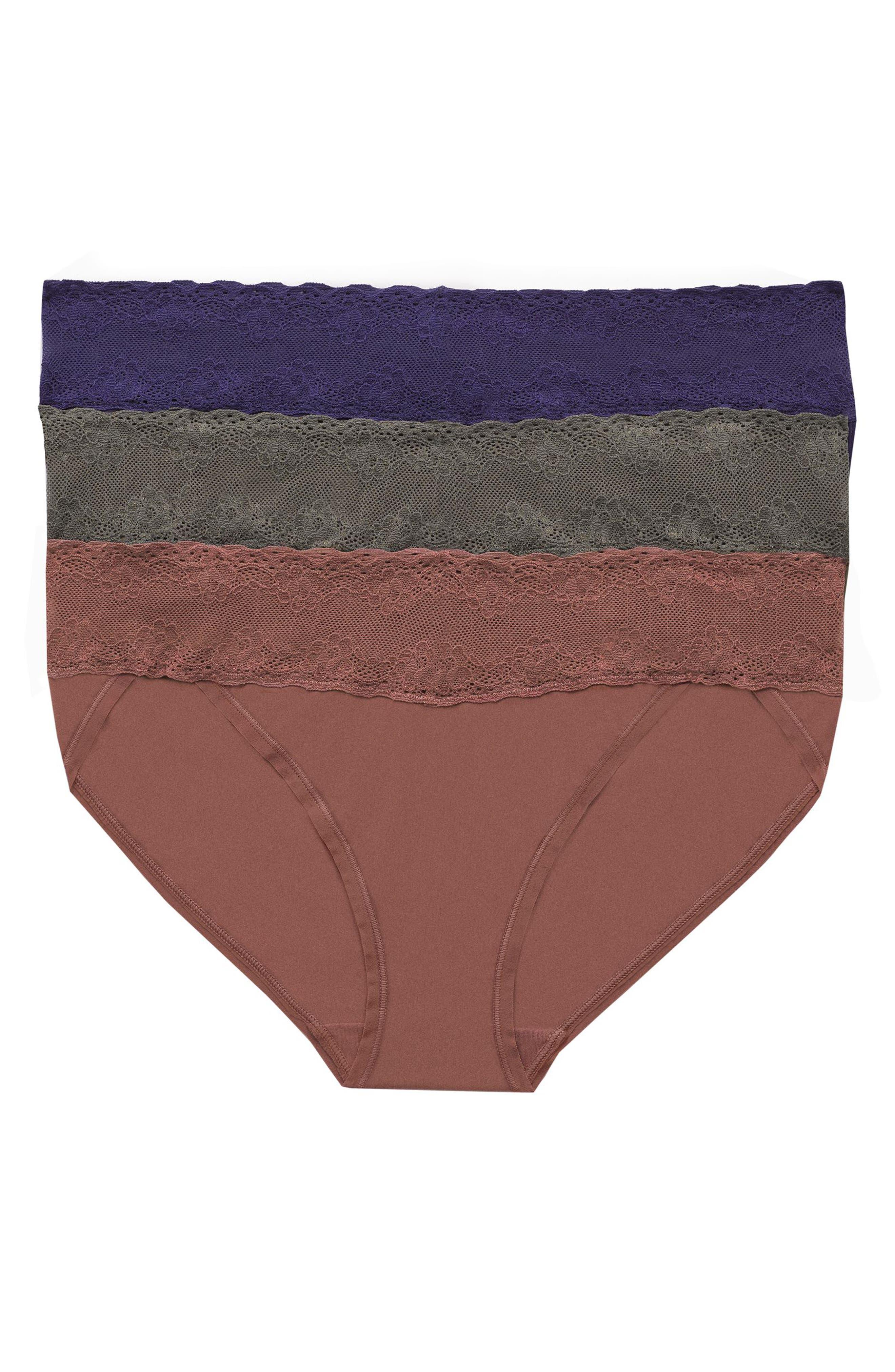 'Bliss Perfection' Bikini Briefs,                             Main thumbnail 1, color,                             Dark Iris/ Olive/ Red Clay