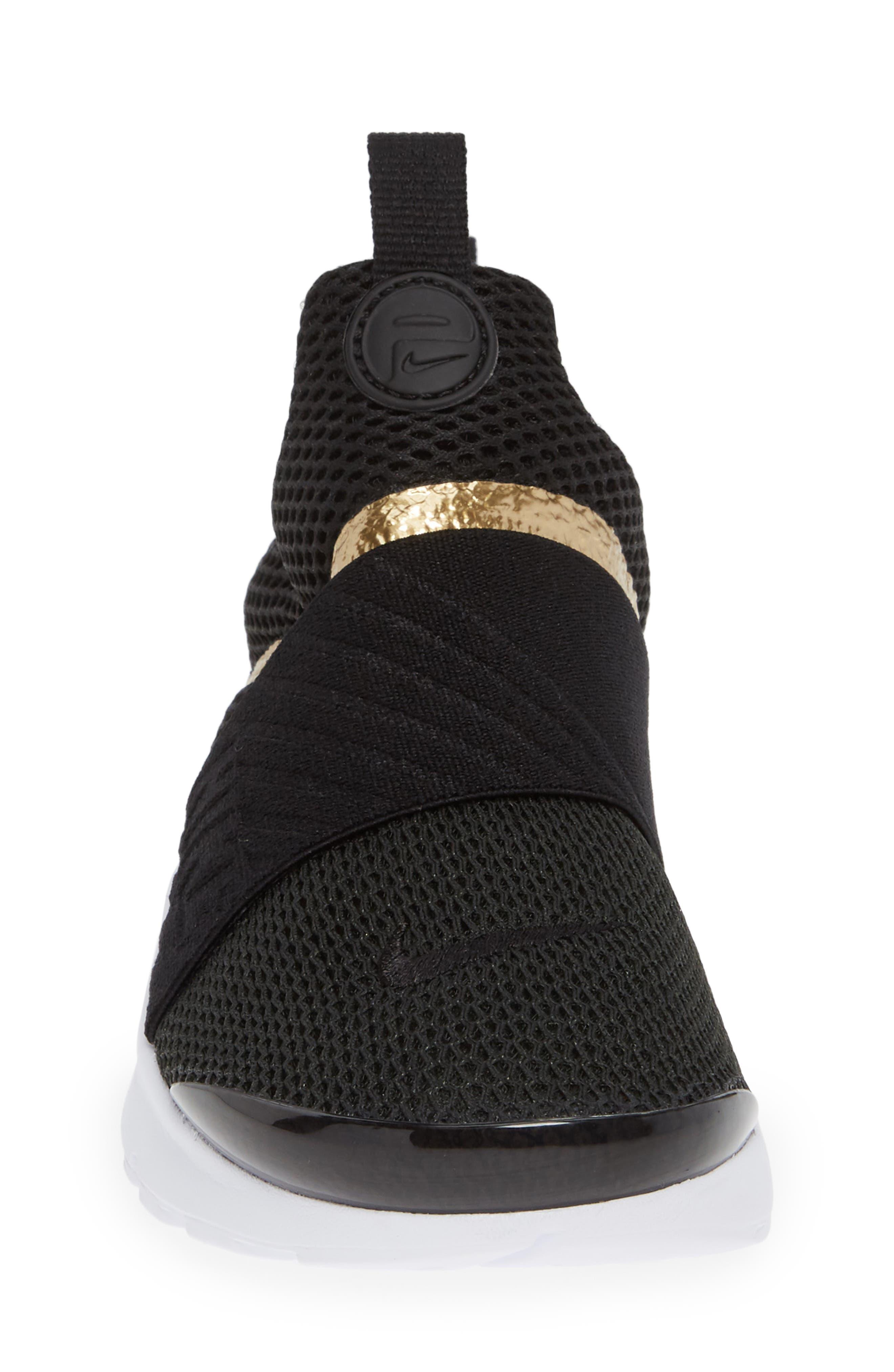 Presto Extreme Sneaker,                             Alternate thumbnail 5, color,                             Black/ Metallic Gold/ White