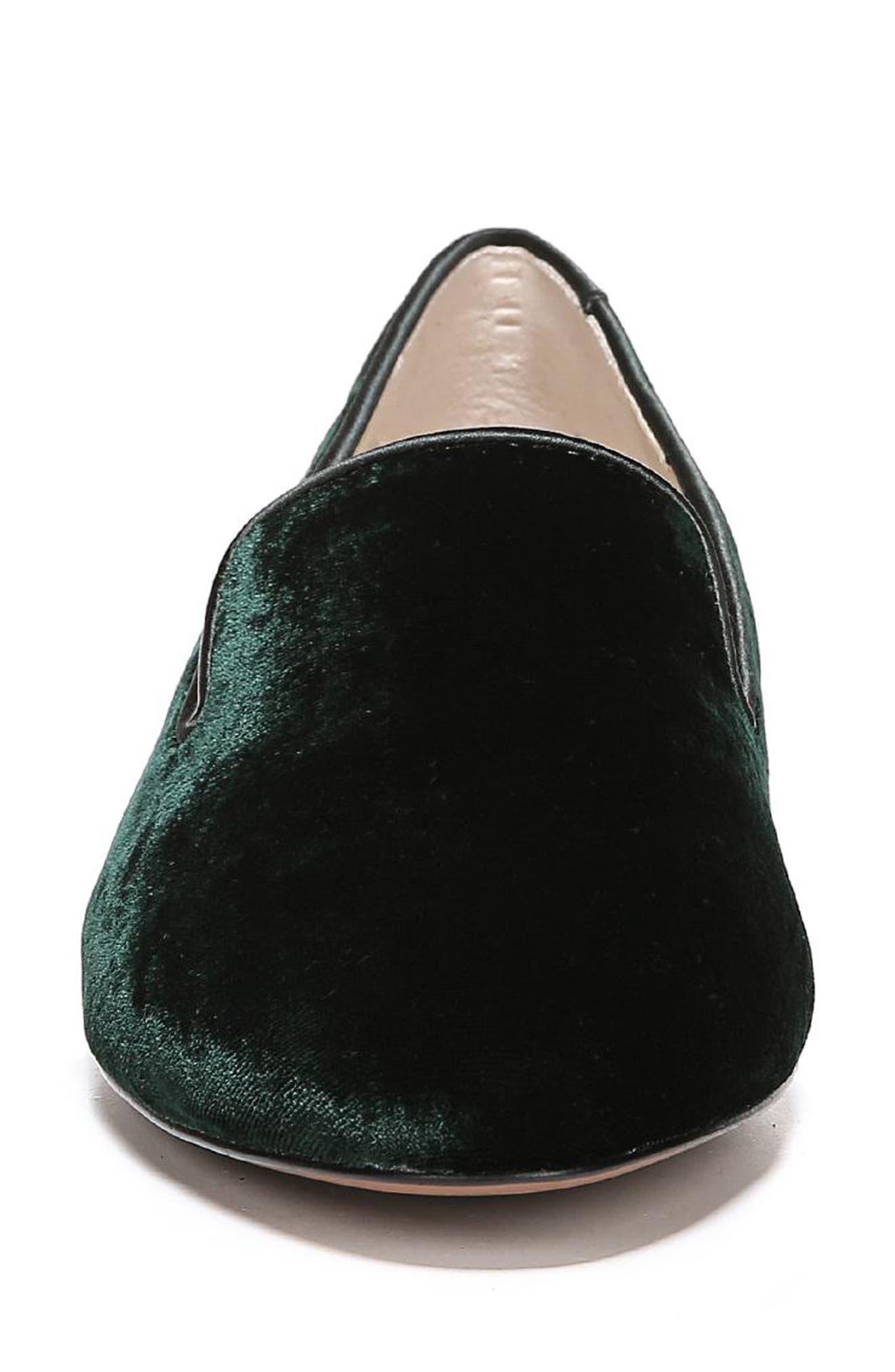 Jordy Flat,                             Alternate thumbnail 4, color,                             Dark Green Velvet