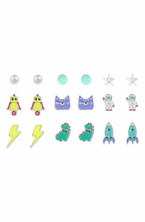 Capelli New York Set Of 9 Stud Earrings Kids
