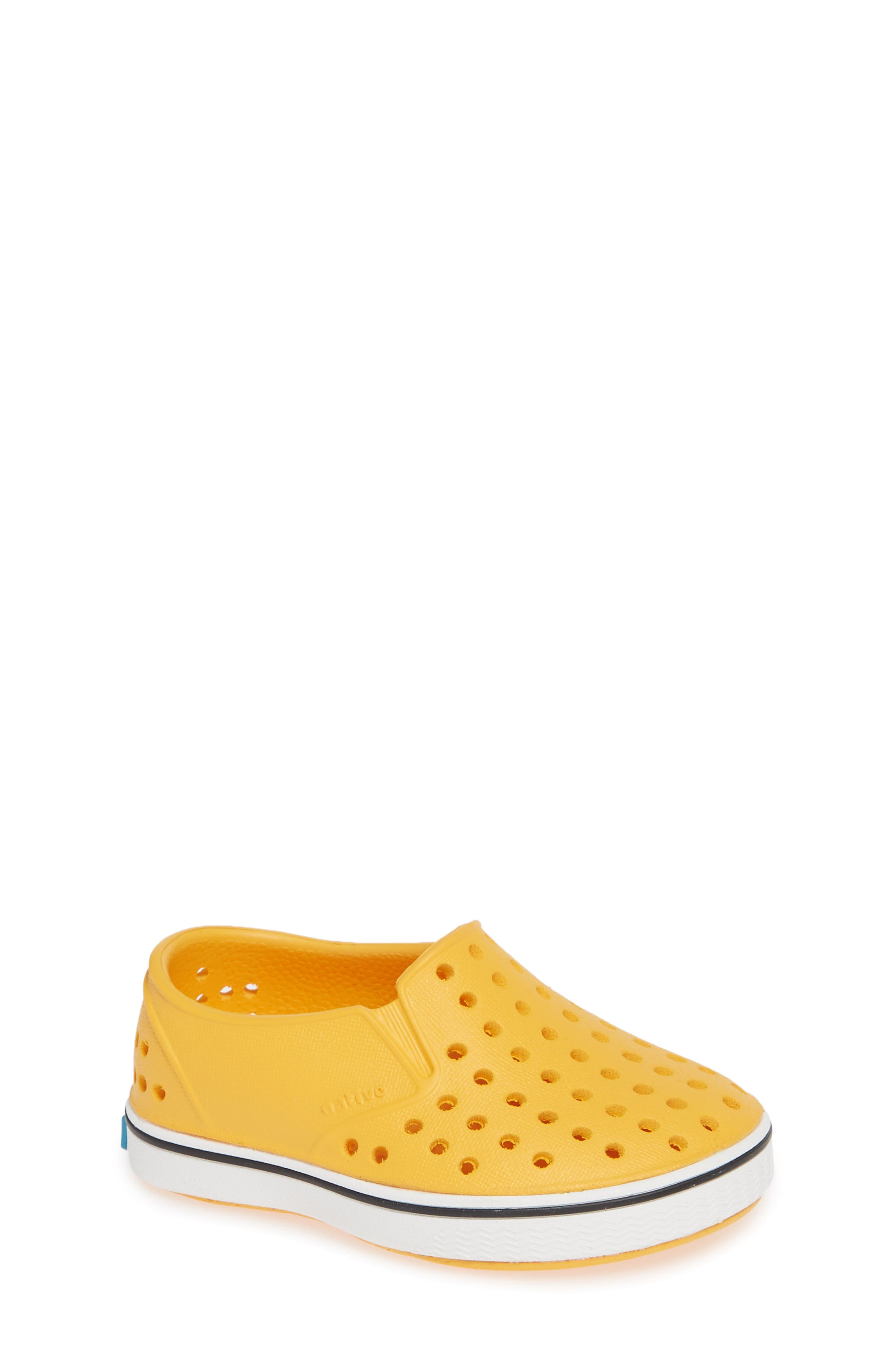 Miles Water Friendly Slip-On Sneaker,                             Main thumbnail 1, color,                             Beanie Yellow/ Shell White