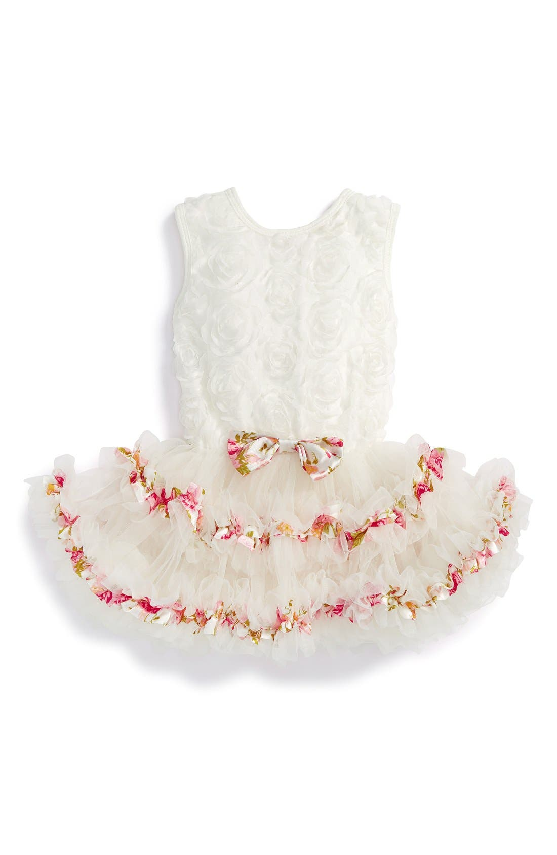 Alternate Image 1 Selected - Popatu Ribbon Rosette Tutu Dress (Baby Girls)