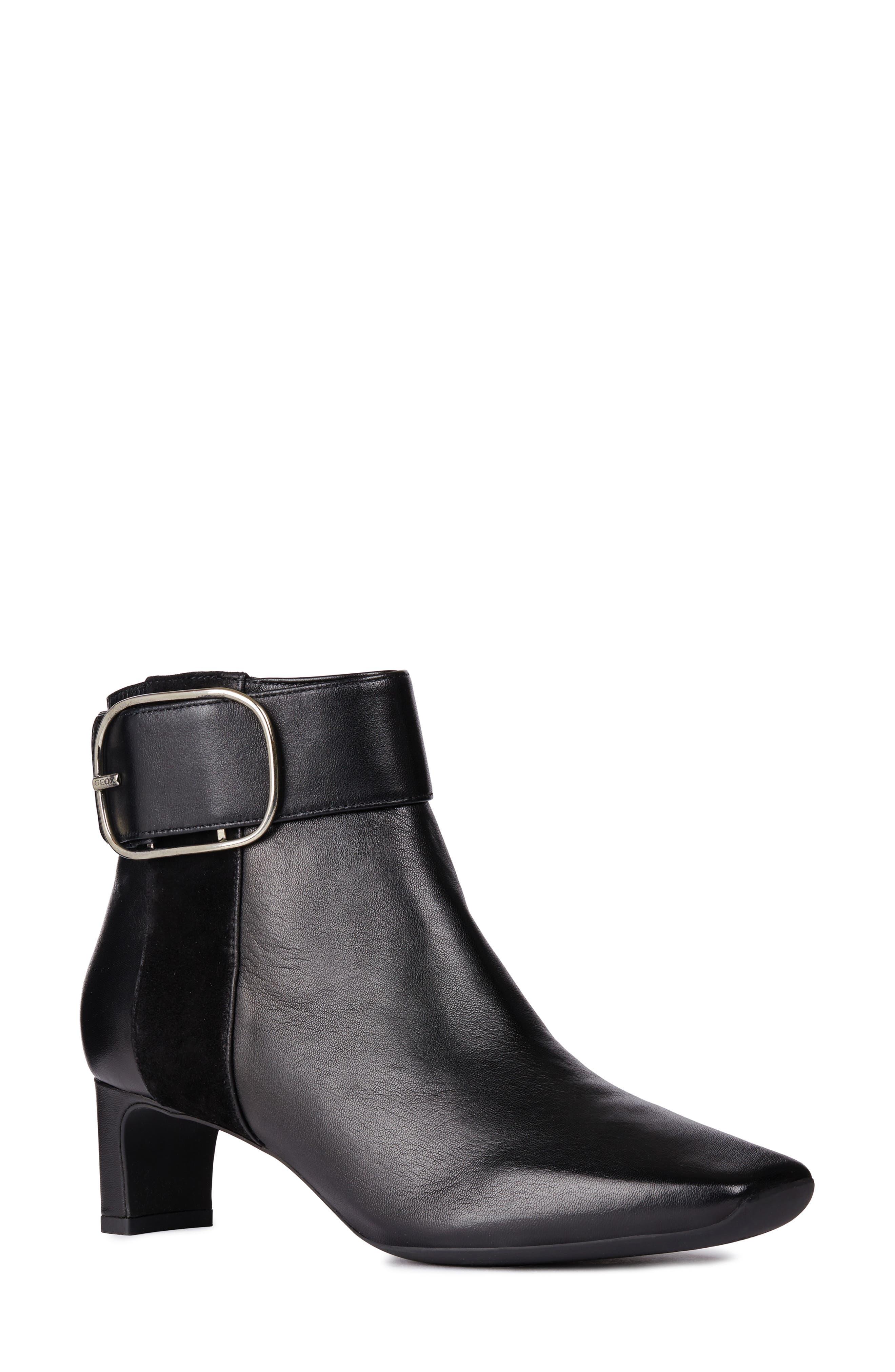 GEOX Vivyanne Bootie in Black Leather