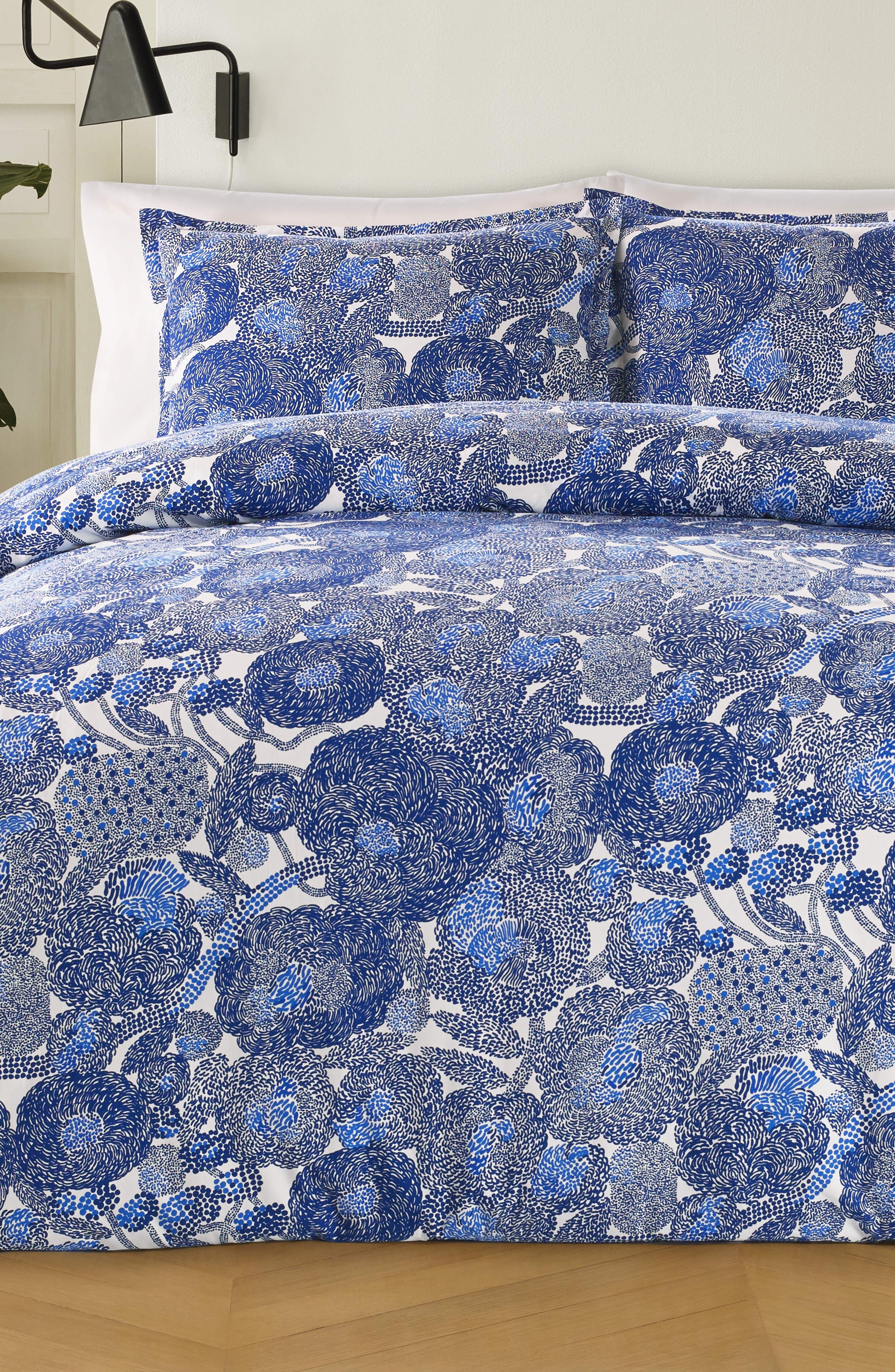 Mynsteri Duvet Cover & Sham Set,                         Main,                         color, Blue