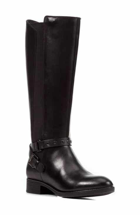 9a8429b21914 Geox Felicity ABX Waterproof Knee High Riding Boot (Women)