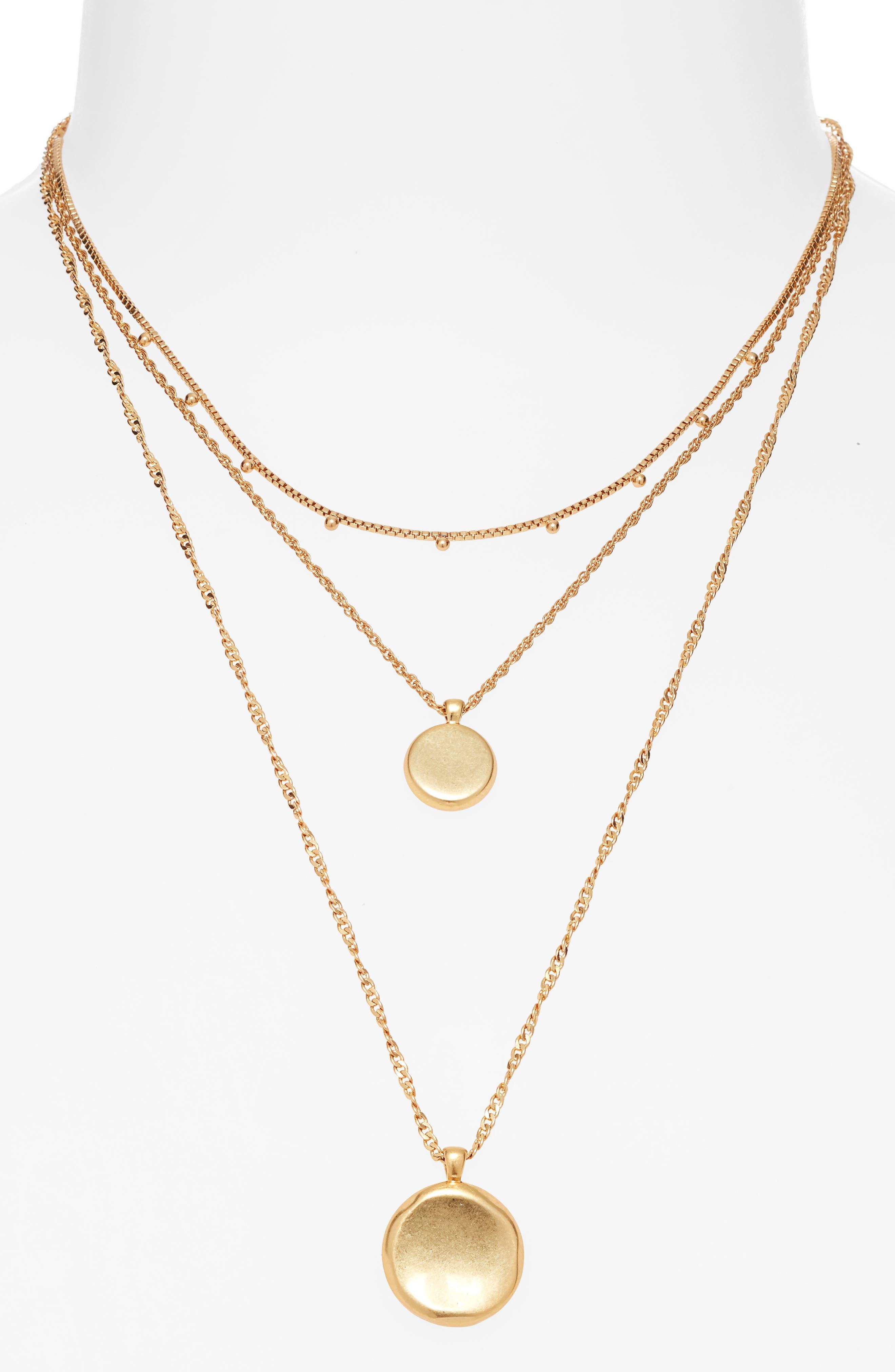 Kwan Crystal Love Pendant Multi Layered Necklace Cross