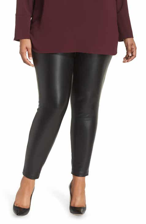 81cd3bcbbe5 Vince Camuto Stretch Faux Leather Skinny Pants (Plus Size)