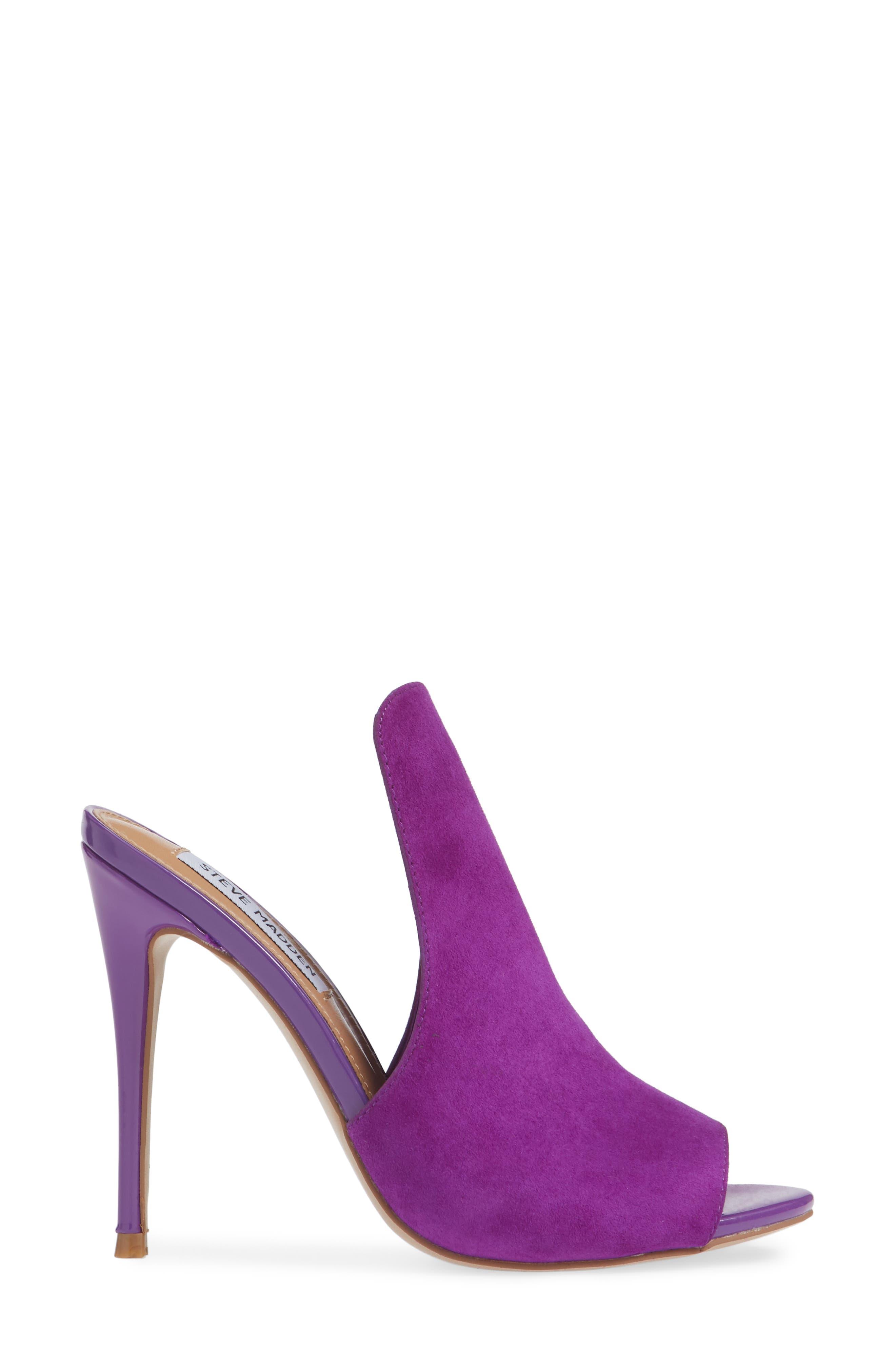 Sinful Sandal,                             Alternate thumbnail 3, color,                             Purple Suede