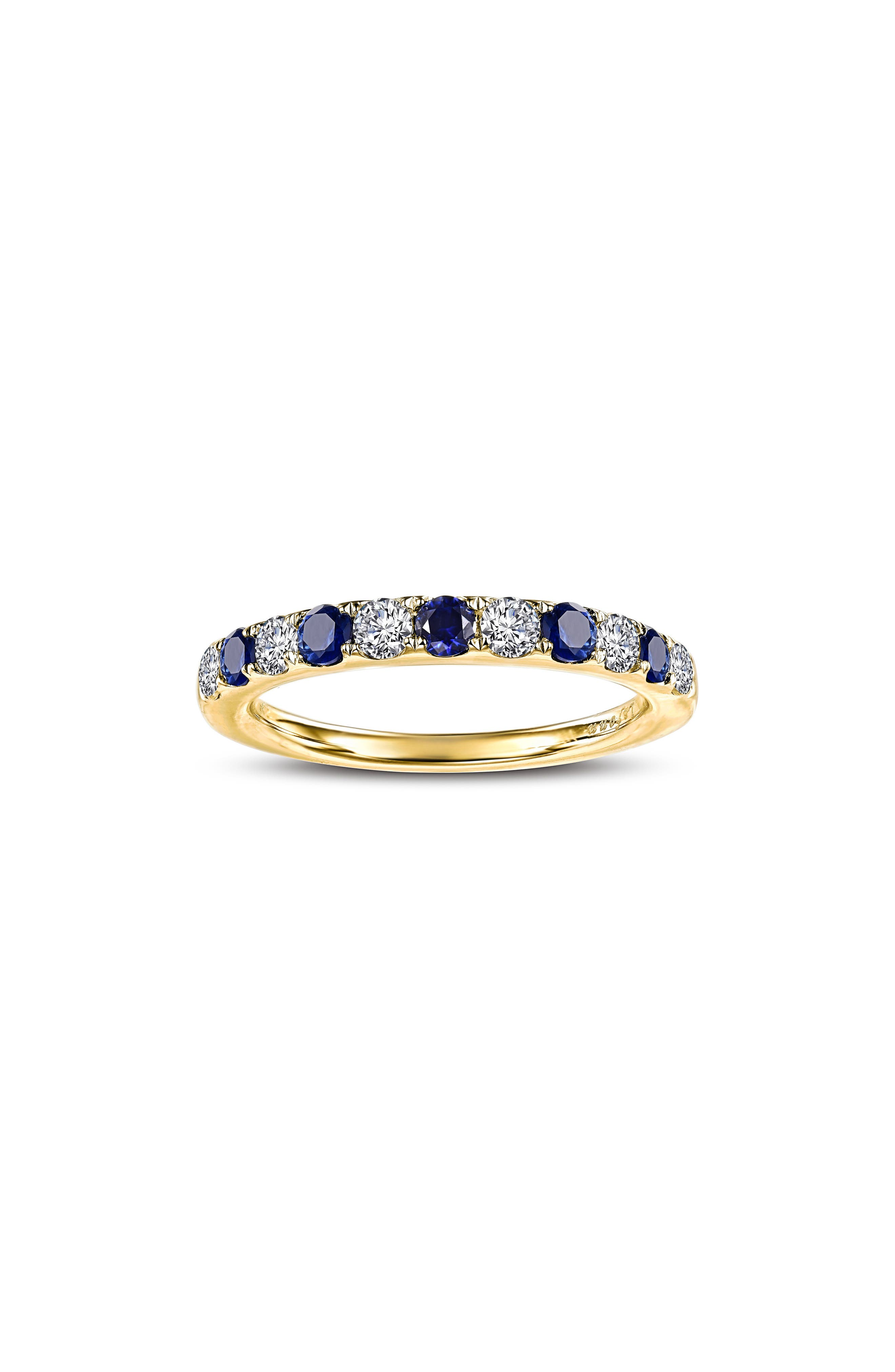 Fashion Jewelry Rings Large Purple Gem Gold Metal Dress Ring In Gift Box Size S