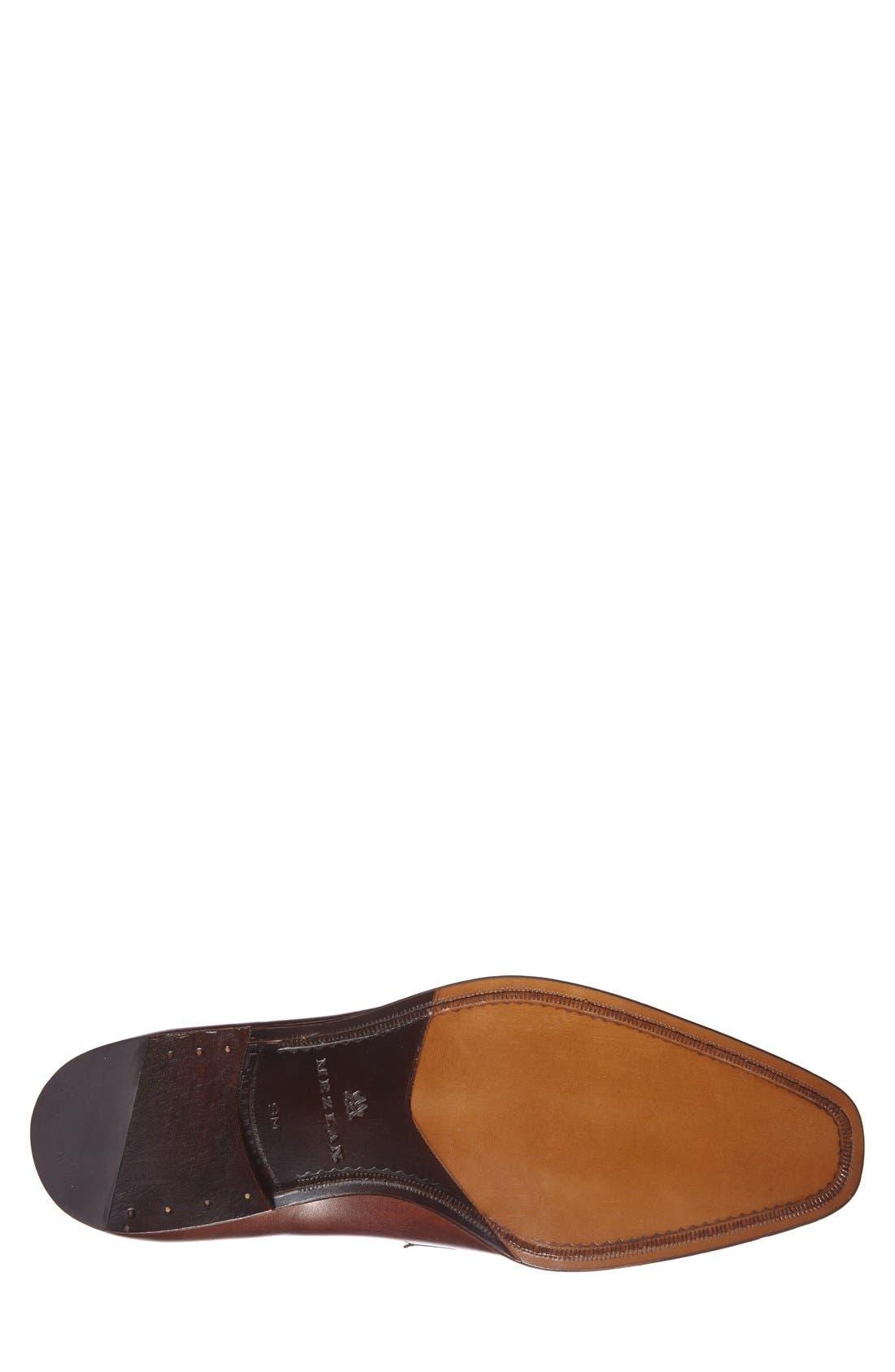 'Tours' Leather Bit Loafer,                             Alternate thumbnail 4, color,                             Cognac