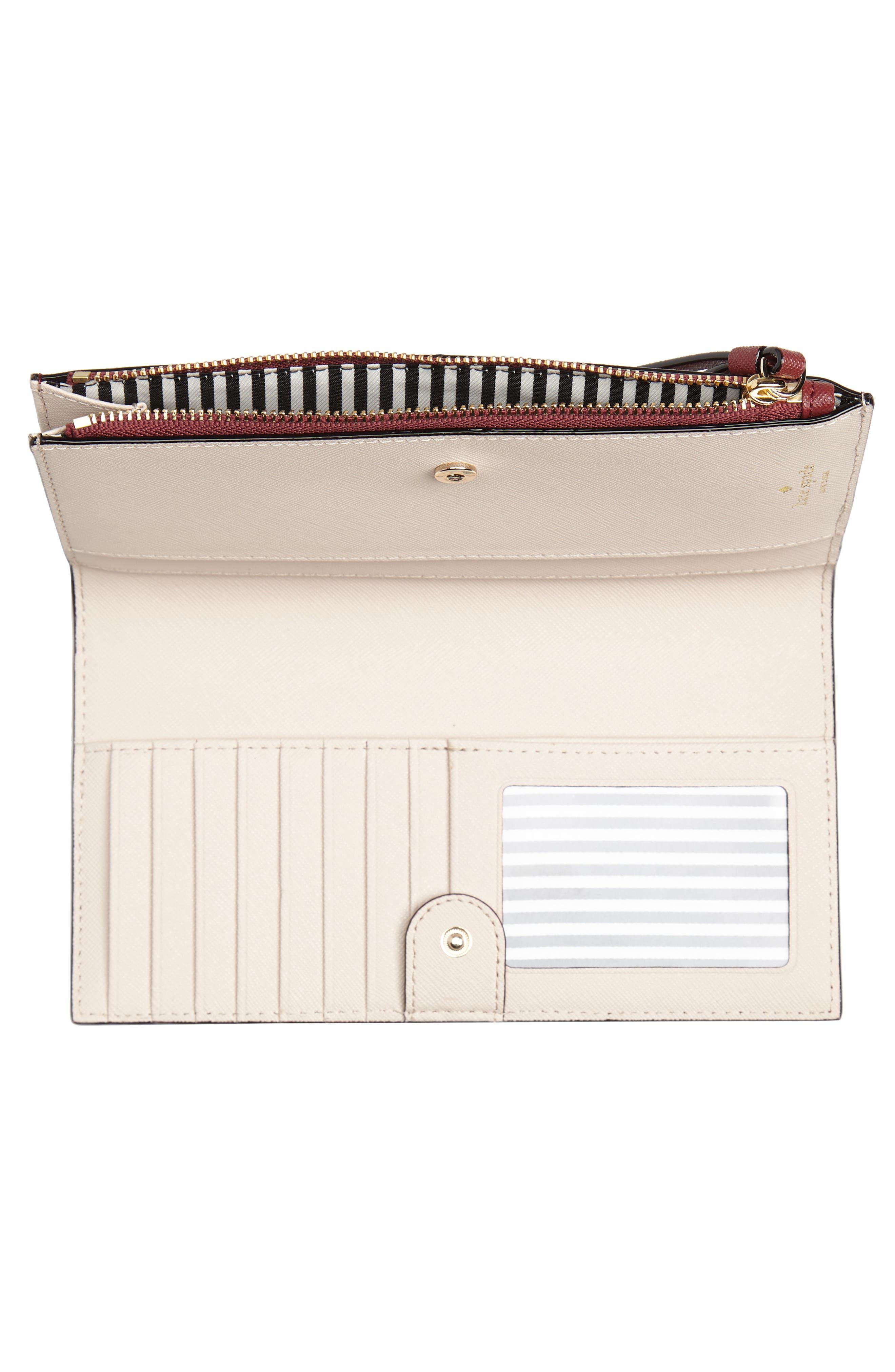 cameron street - eliza leather wallet,                             Alternate thumbnail 2, color,                             Sienna/ Tusk