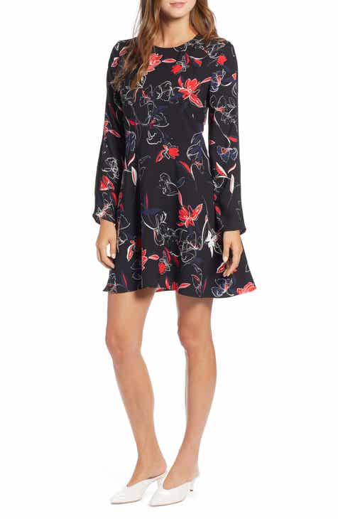 Halogen dresses for women nordstrom halogen floral shift dress regular petite mightylinksfo