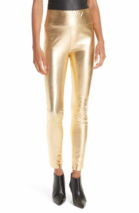 d0ee31fee8735 SPRWMN High Waist Leather Ankle Leggings