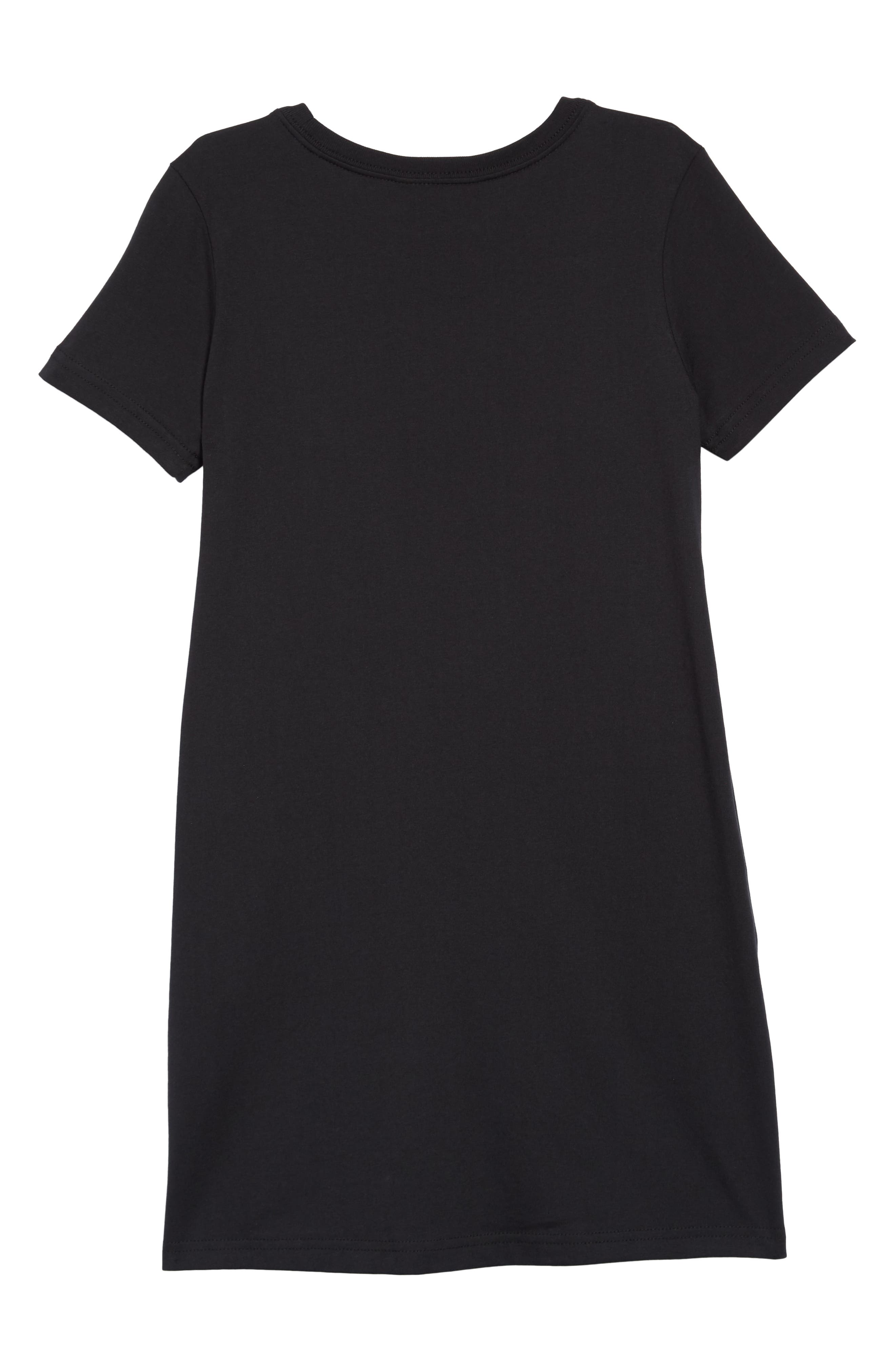 Sportswear Logo Shirtdress,                             Alternate thumbnail 2, color,                             Black/ White
