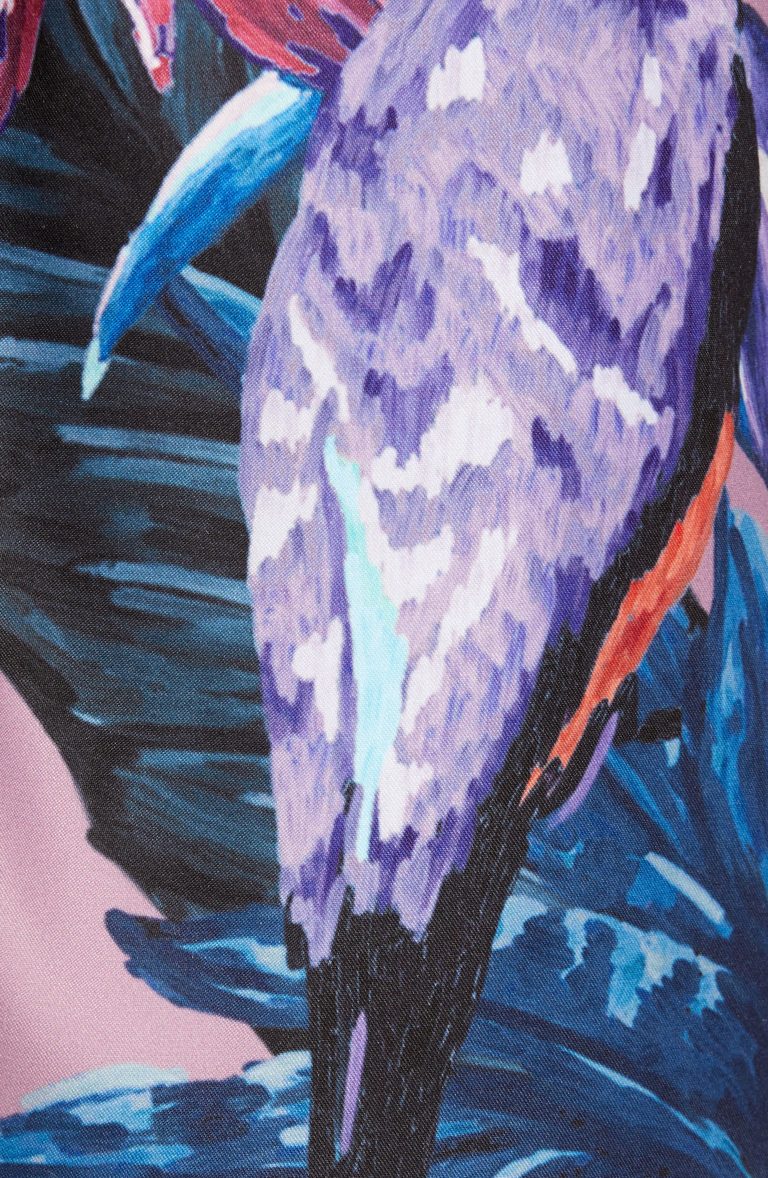 Nemo Tiger Print Swim Shorts,                             Alternate thumbnail 4, color,                             Pink