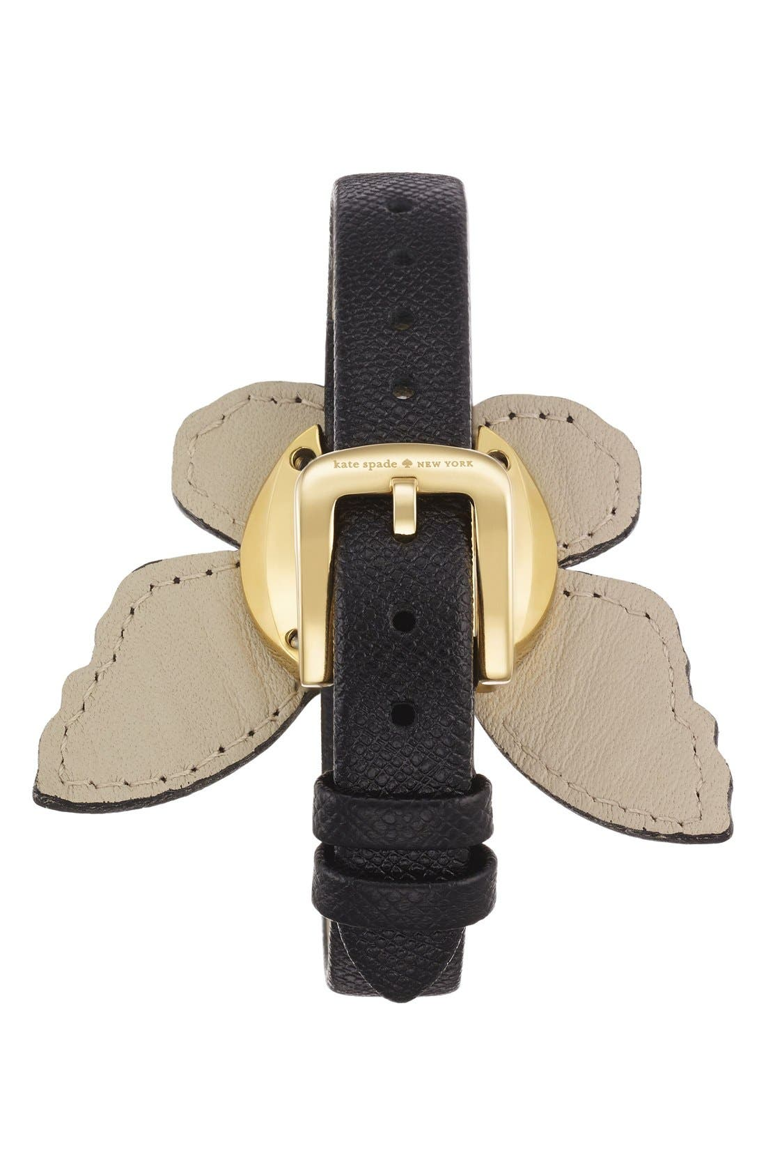Alternate Image 2  - kate spade new york butterfly leather strap watch, 20mm