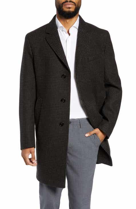 92930d33b825 BOSS Shawn Slim Fit Wool Blend Top Coat