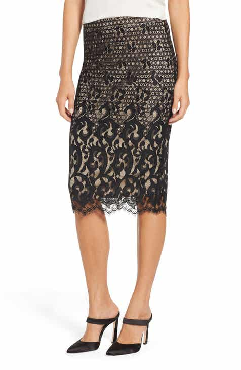 TDC Lace Pencil Skirt by TDC