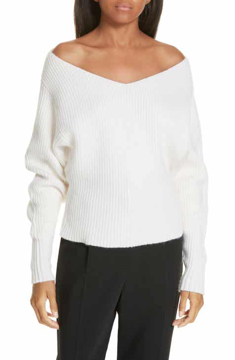JI OH Off the Shoulder Wool   Cashmere Sweater 21843cb29