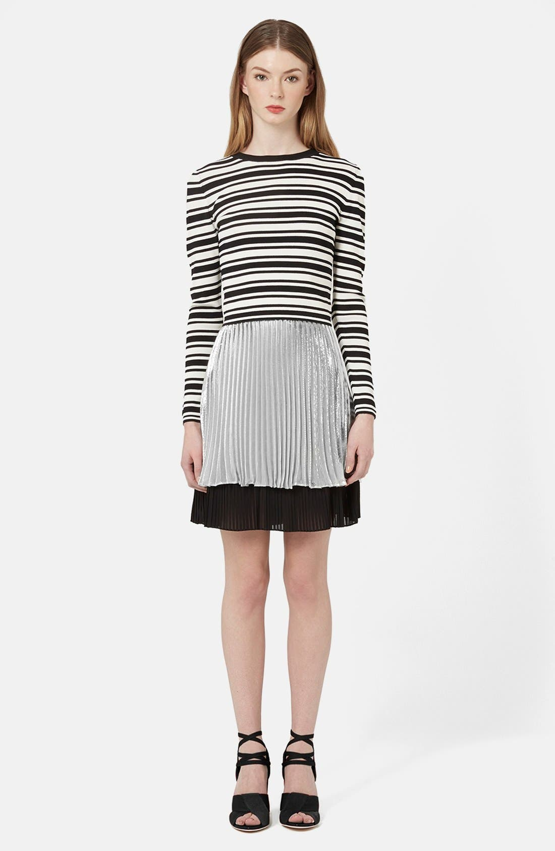 Alternate Image 6  - Topshop Unique 'Sun Ray' Two Tier Pleated Skirt