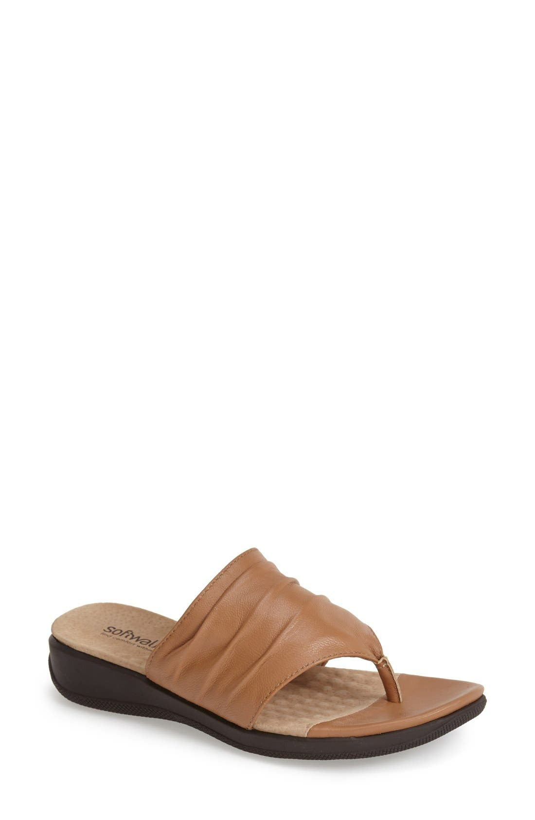 'Toma' Thong Sandal,                             Main thumbnail 1, color,                             Tan