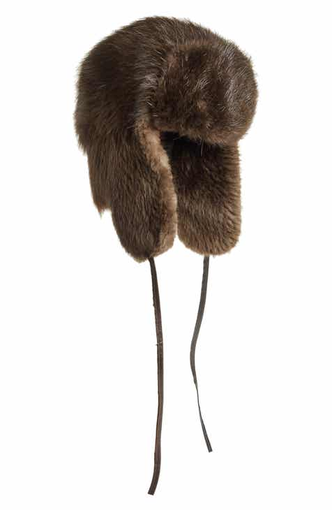 85c7b7f20f4 Moose Knuckles Genuine Beaver Fur Trapper Hat