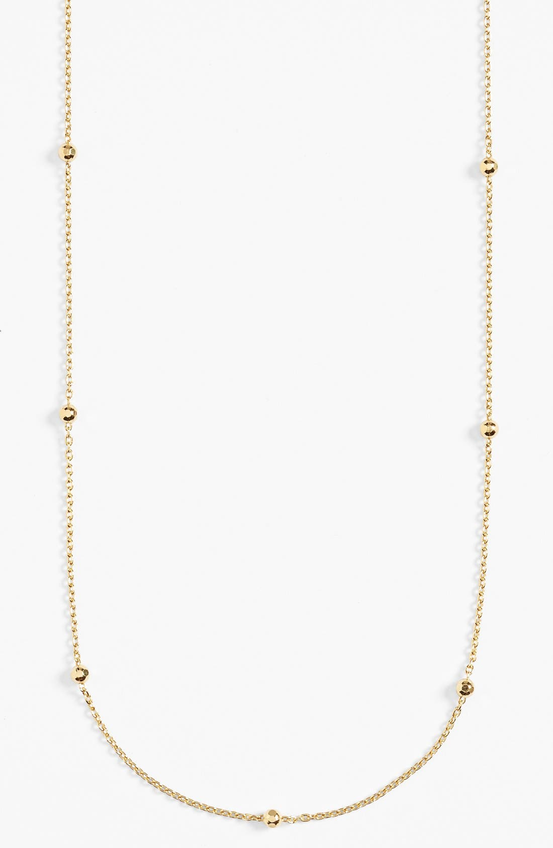 Long Station Necklace,                             Alternate thumbnail 3, color,                             Gold