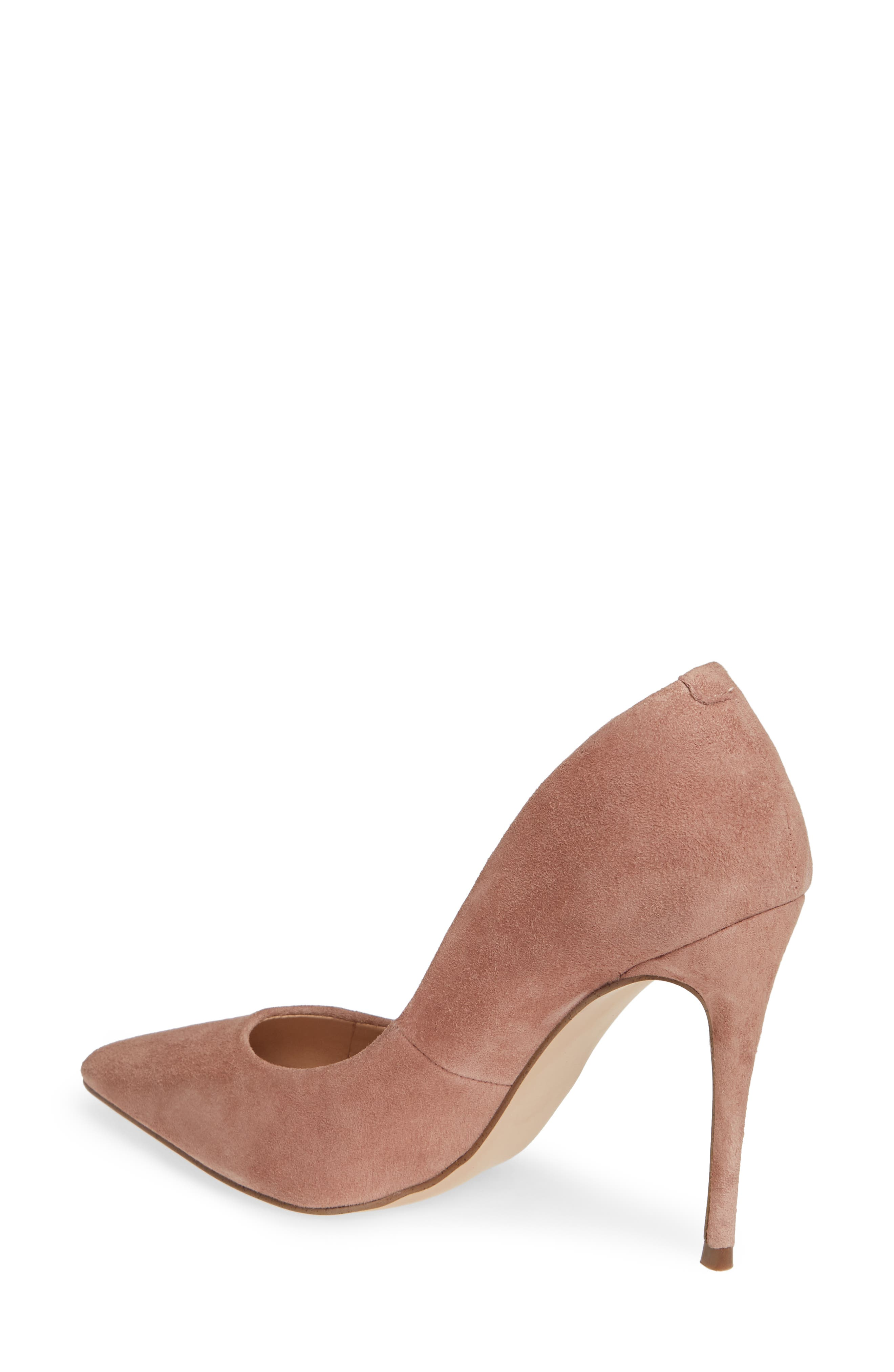 Daisie Pointy-Toe Pump,                             Alternate thumbnail 2, color,                             Tan Suede