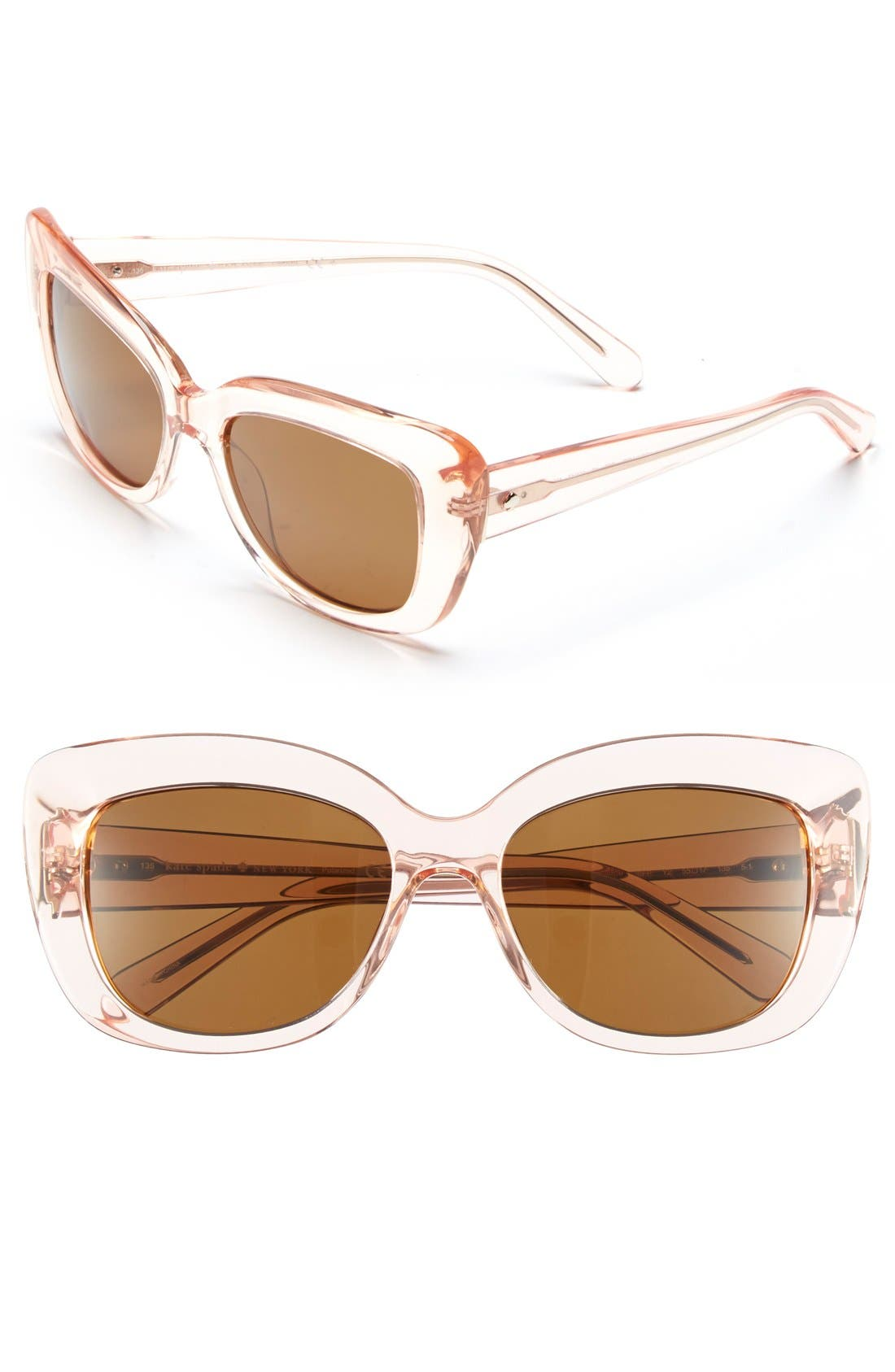 Main Image - kate spade new york 'ursula' 55mm polarized cat eye sunglasses (Nordstrom Exclusive)