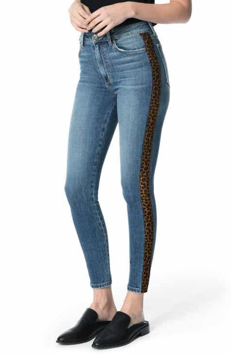 5c526b52af3d1 Joe s Charlie Leopard Stripe High Waist Ankle Skinny Jeans (Ivey)