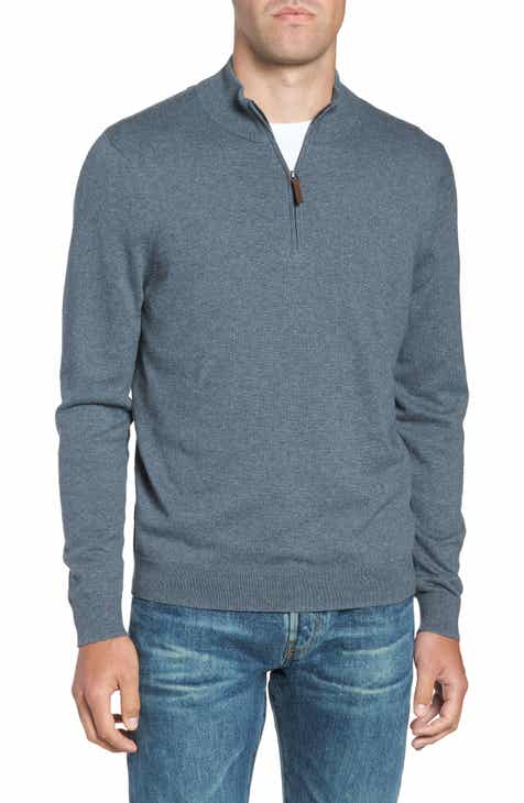 nordstrom mens shop half zip cotton cashmere pullover regular tall