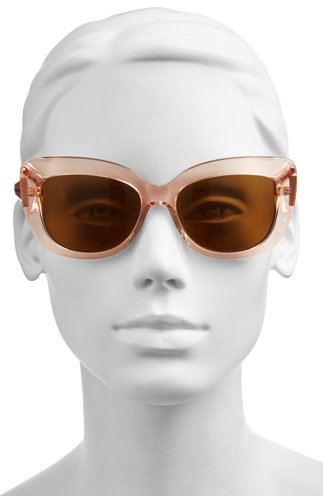 'ursula' 55mm polarized cat eye sunglasses,                             Alternate thumbnail 2, color,                             Neutral