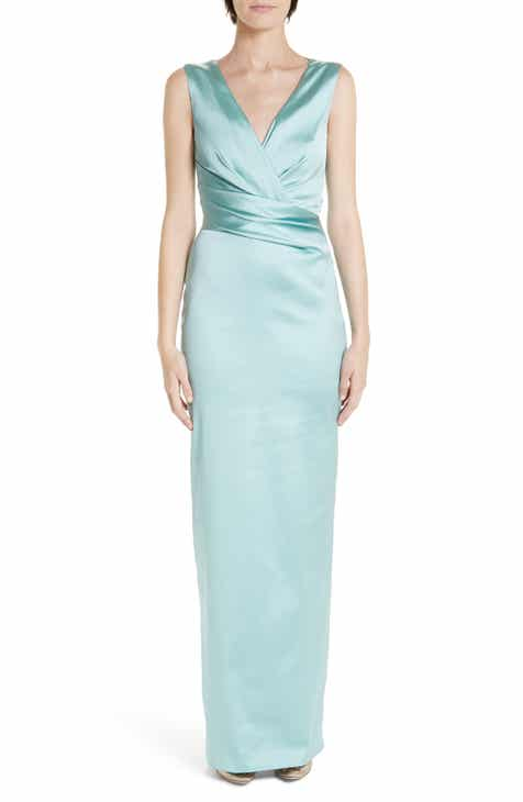 Talbot Runhof Stretch Duchess Satin Gown by Talbot Runhof