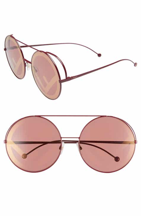 e96a2d1d80bbc Fendi Run Away 63mm Round Sunglasses