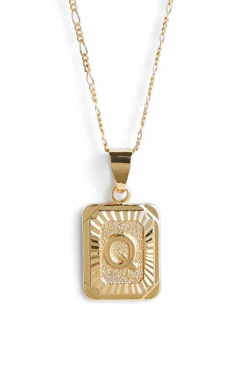 4afb06bd8 Bracha Initial Pendant Necklace